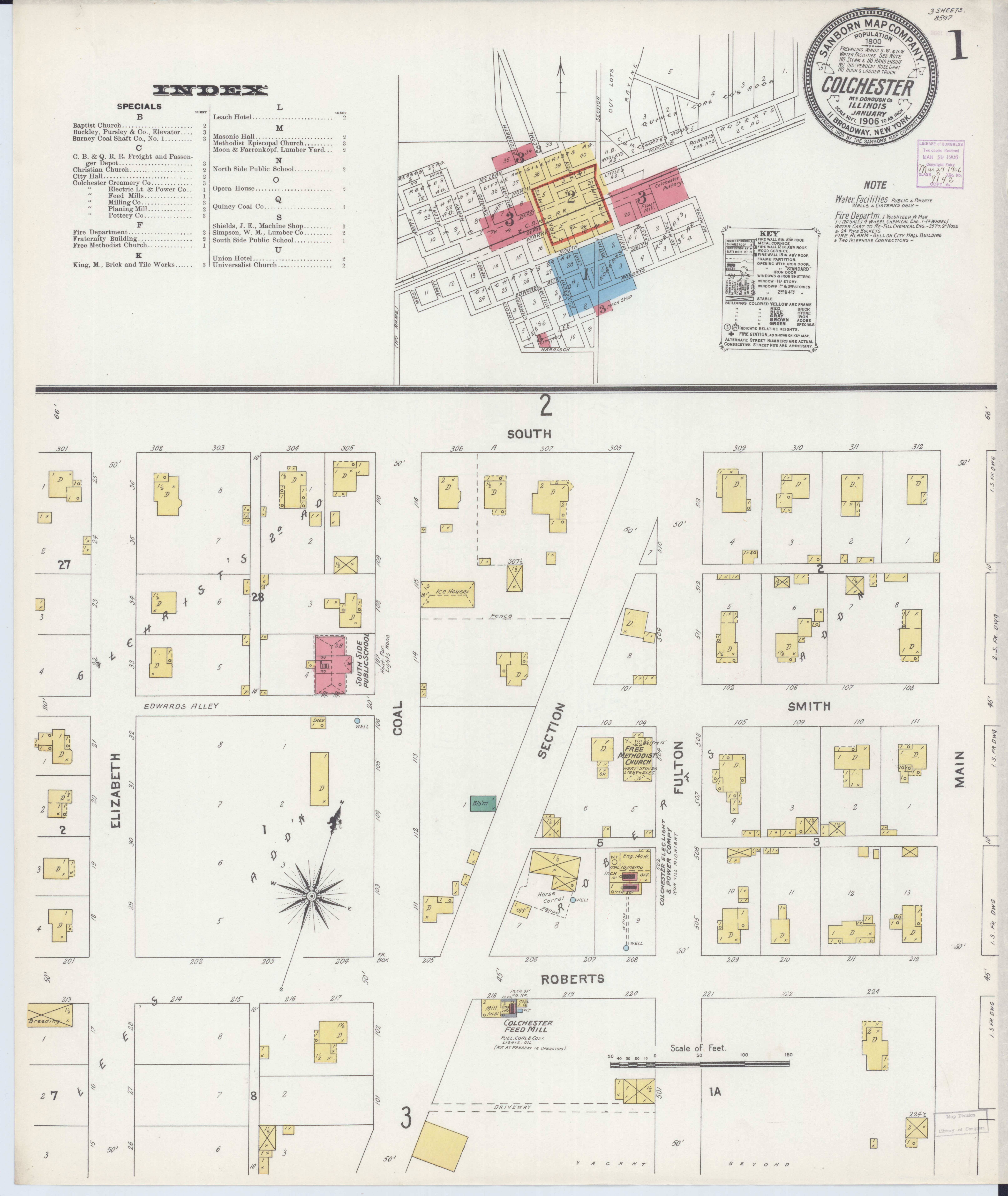 File Sanborn Fire Insurance Map from Colchester Mcdonough County