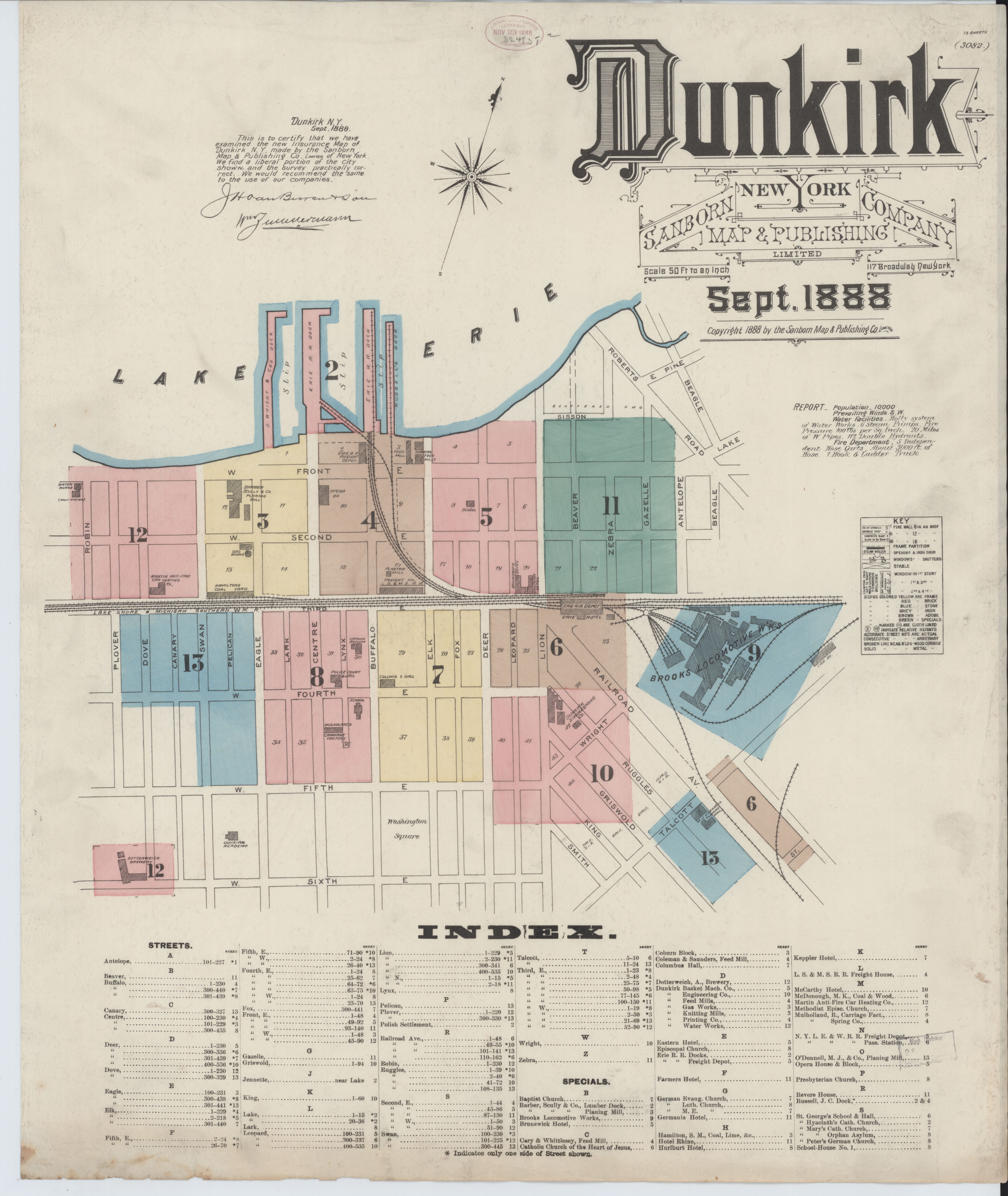File Sanborn Fire Insurance Map from Dunkirk Chautauqua County New