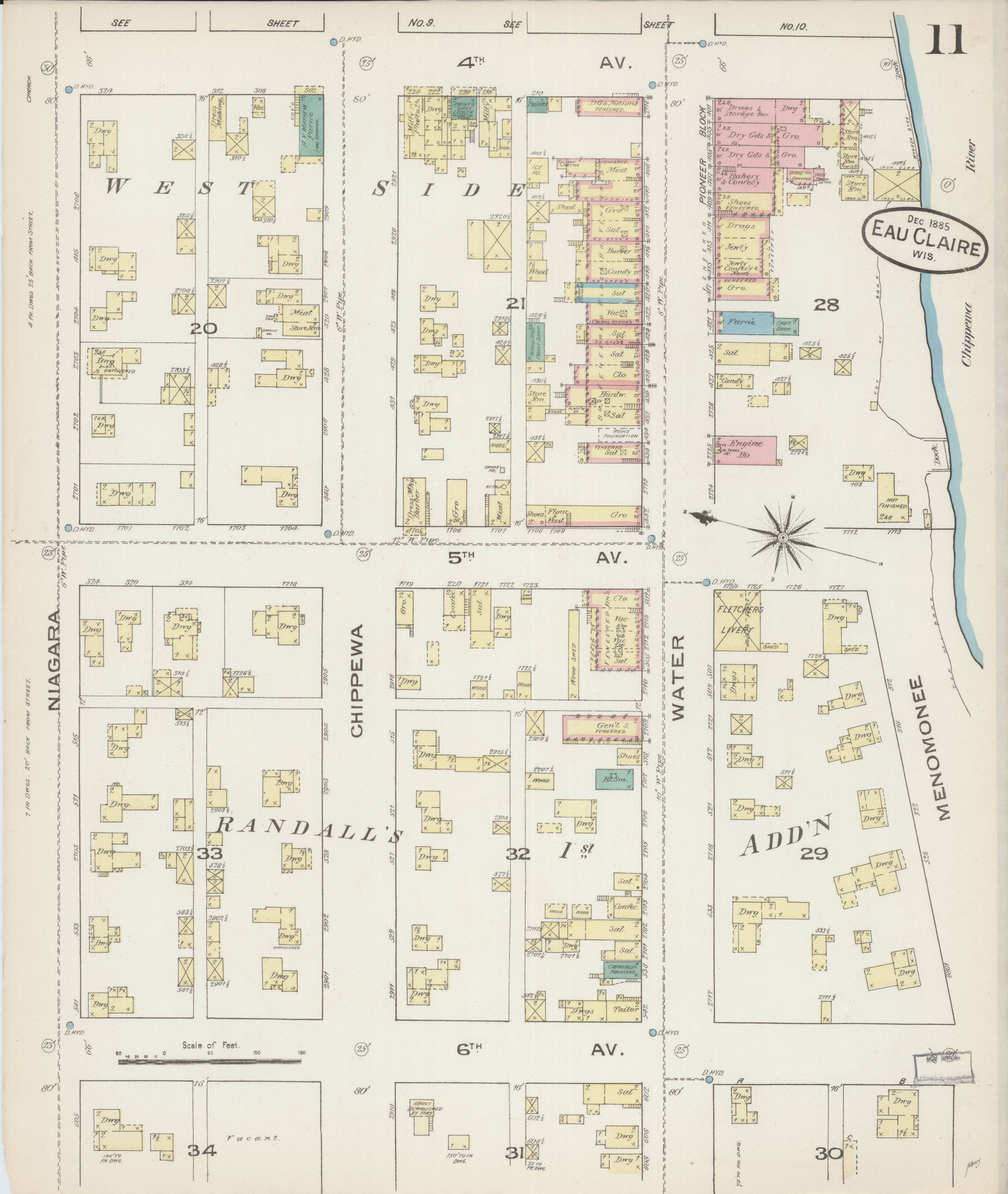 File Sanborn Fire Insurance Map from Eau Claire Eau Claire County