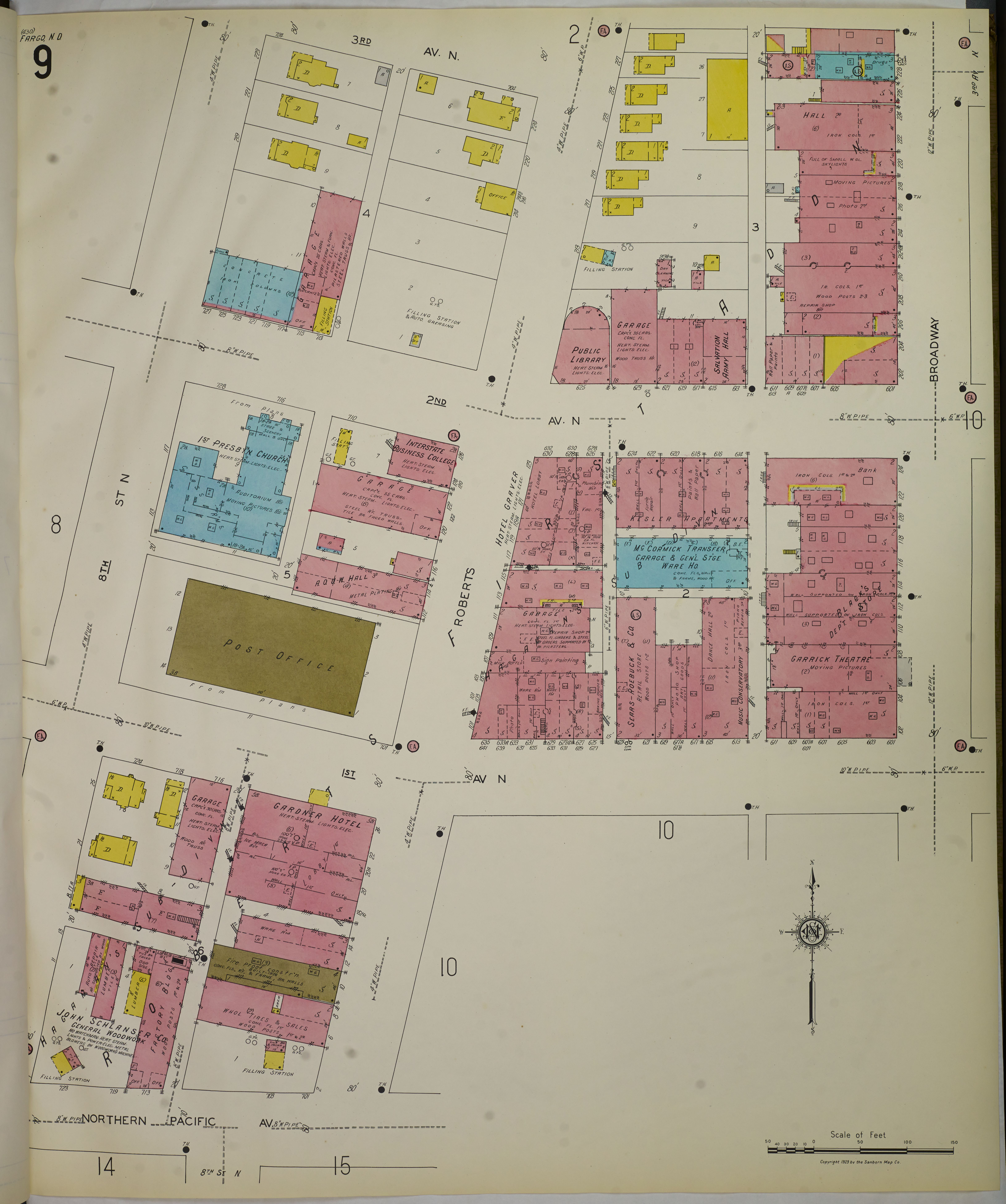 File Sanborn Fire Insurance Map from Fargo Cass County North