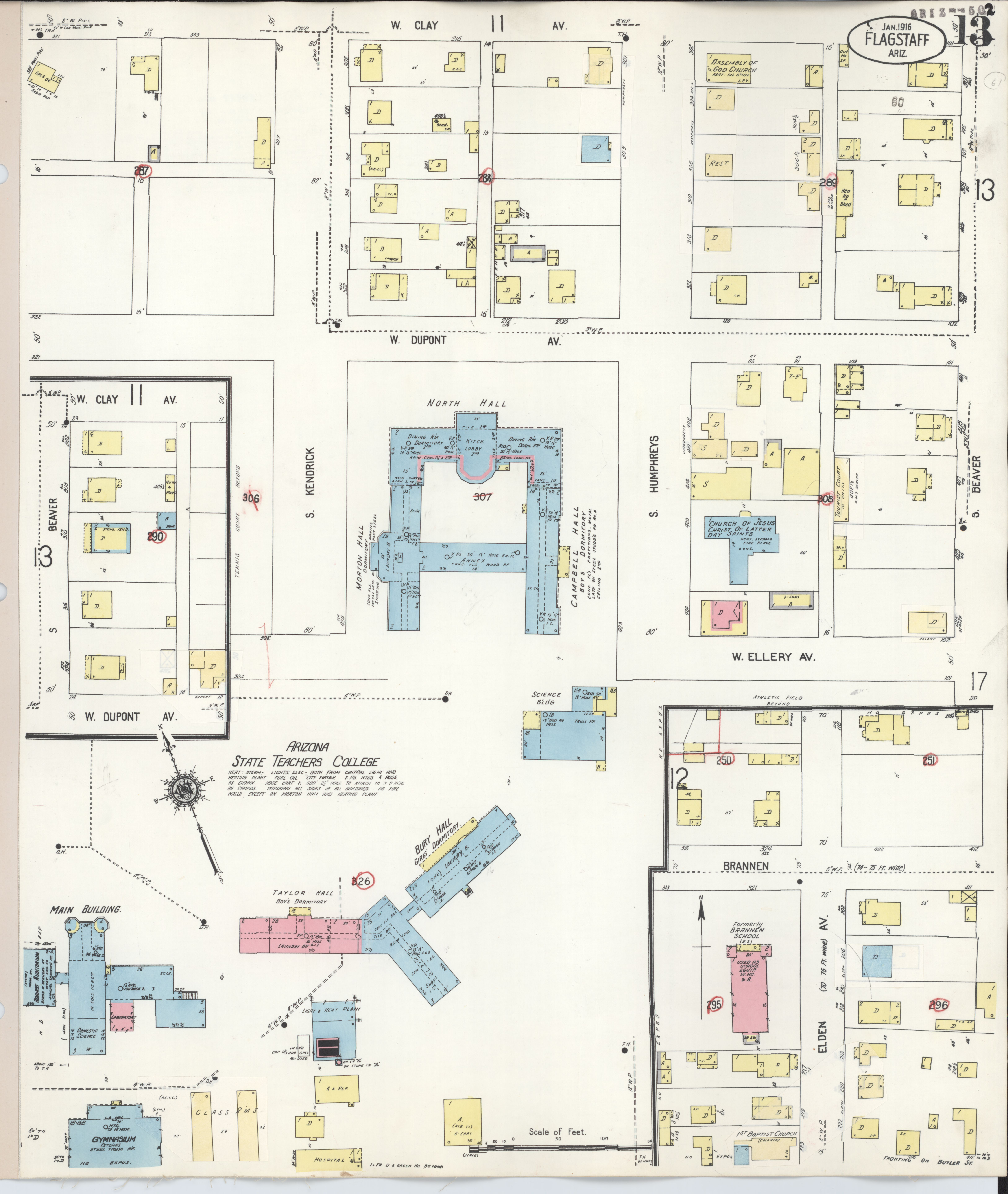 File Sanborn Fire Insurance Map from Flagstaff Coconino County