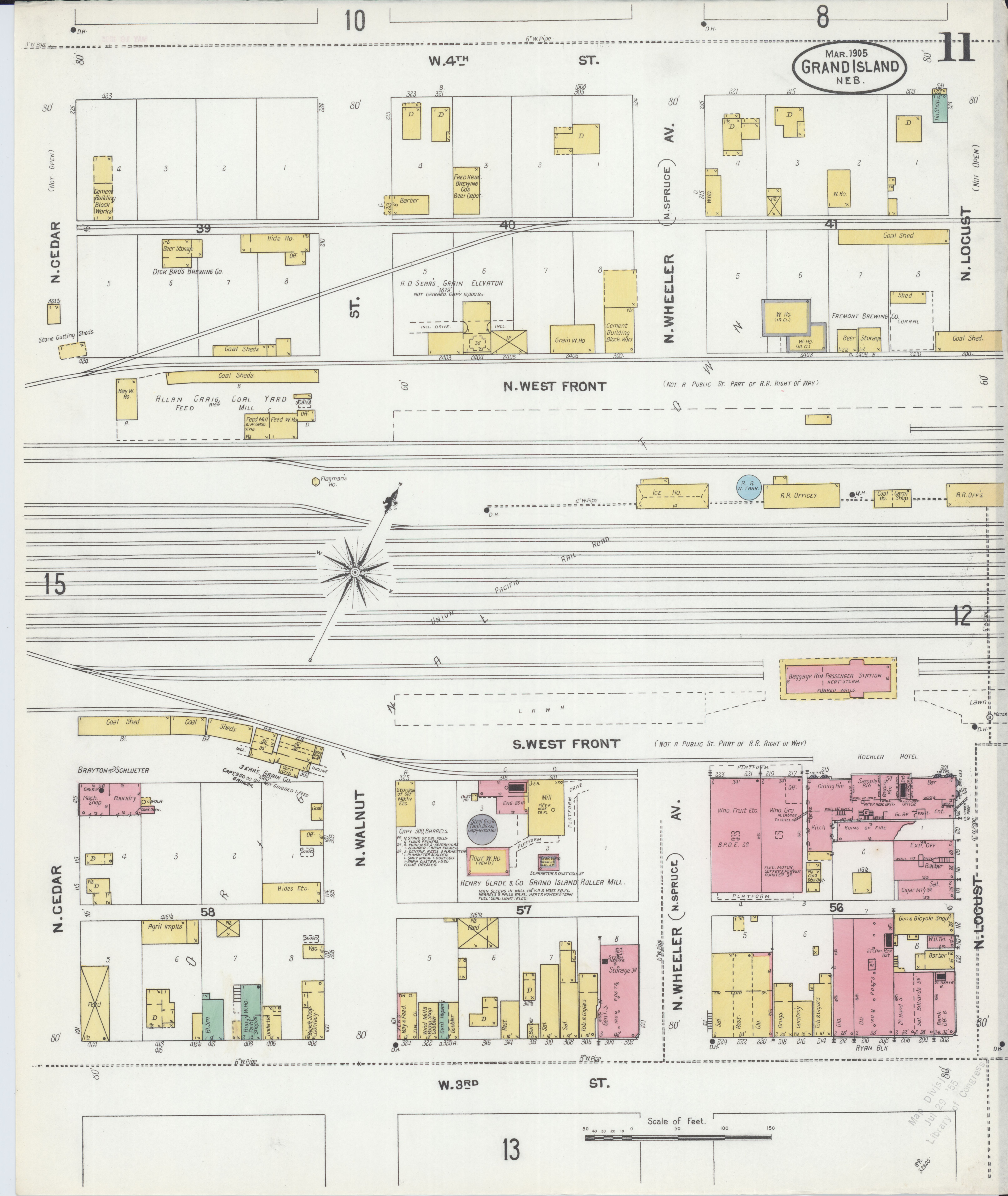File Sanborn Fire Insurance Map from Grand Island Hall County