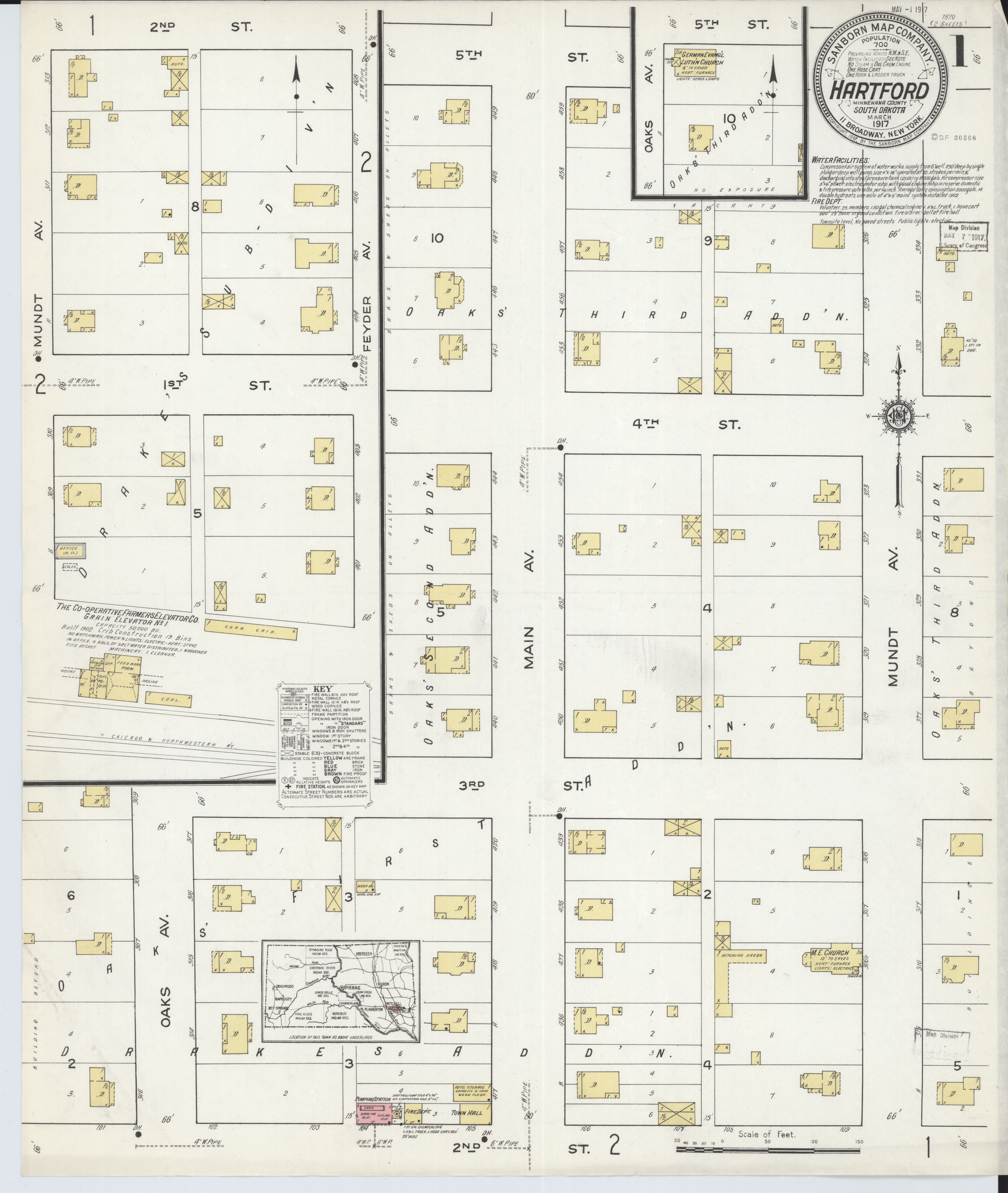 File Sanborn Fire Insurance Map from Hartford Minnehaha County