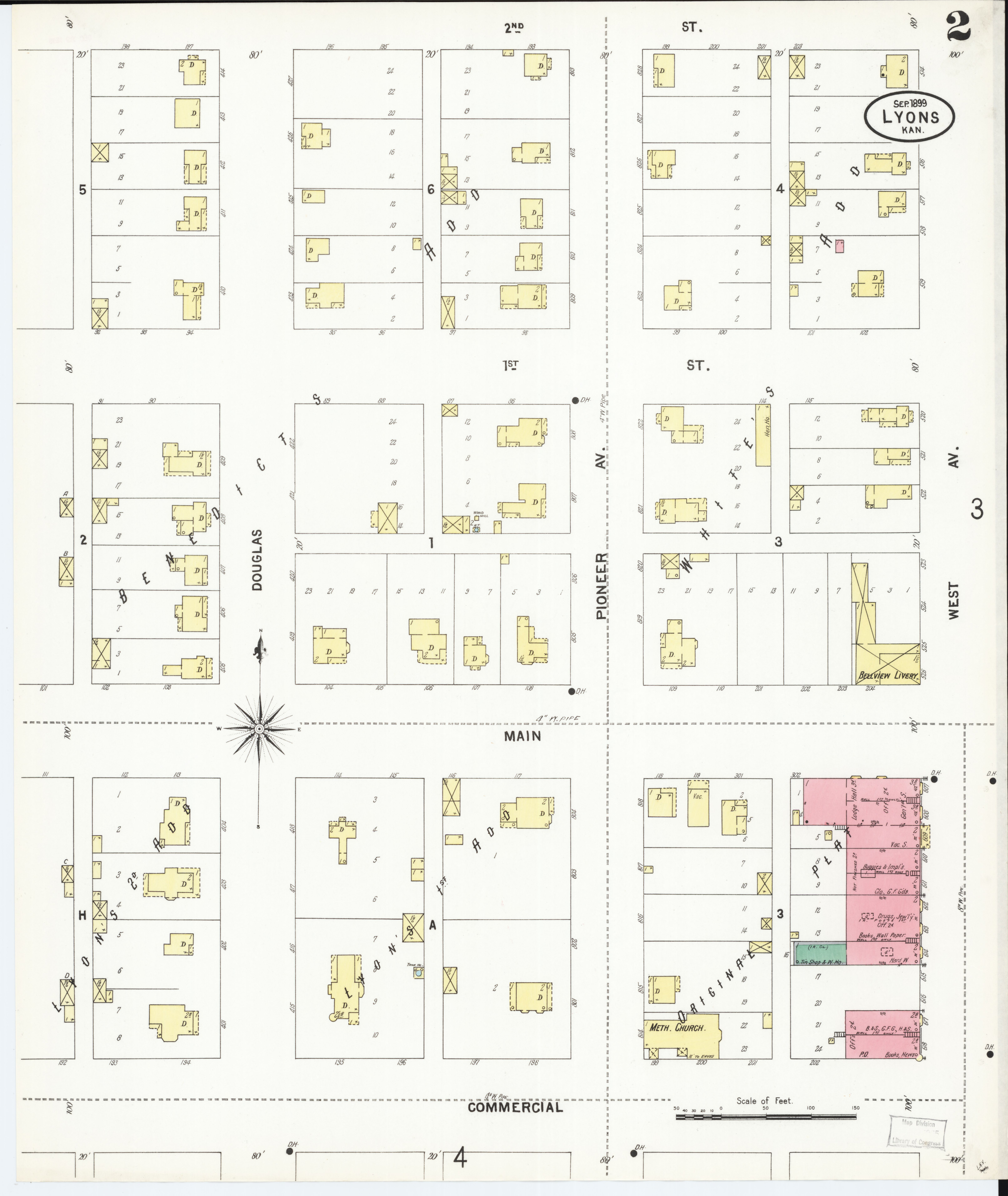 File Sanborn Fire Insurance Map from Lyons Rice County Kansas LOC