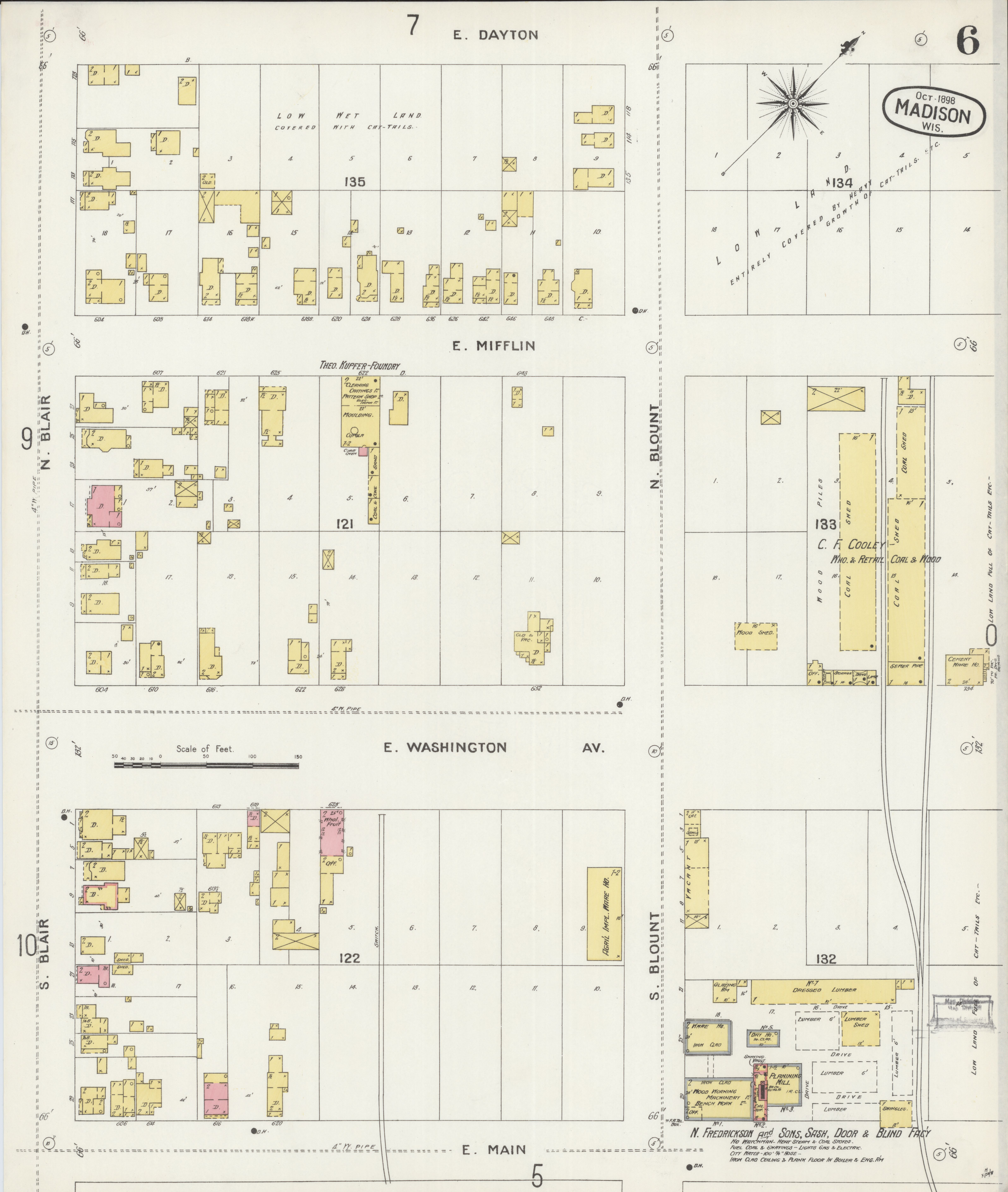 File Sanborn Fire Insurance Map from Madison Dane County Wisconsin