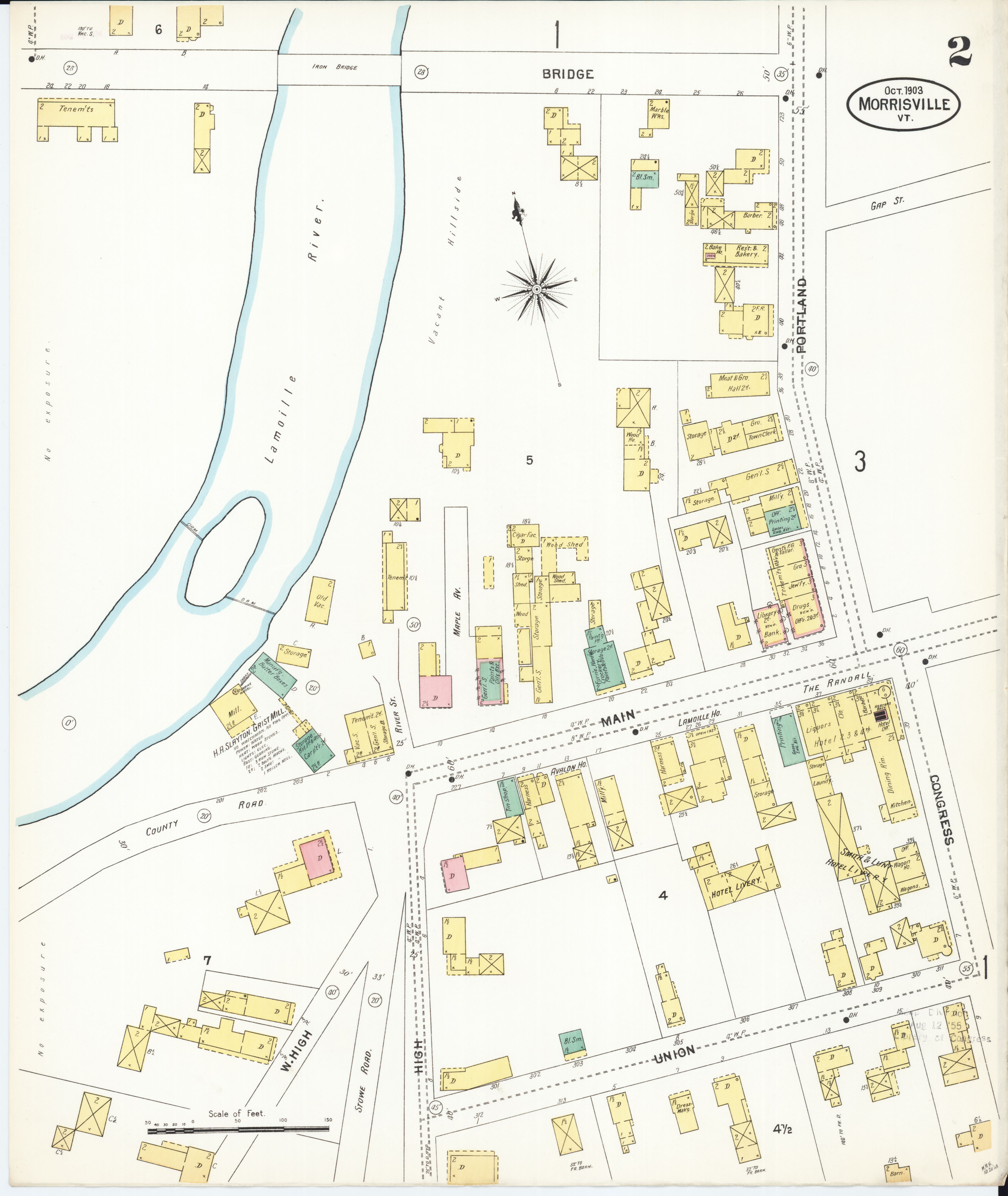 File Sanborn Fire Insurance Map from Morrisville Lamoille County
