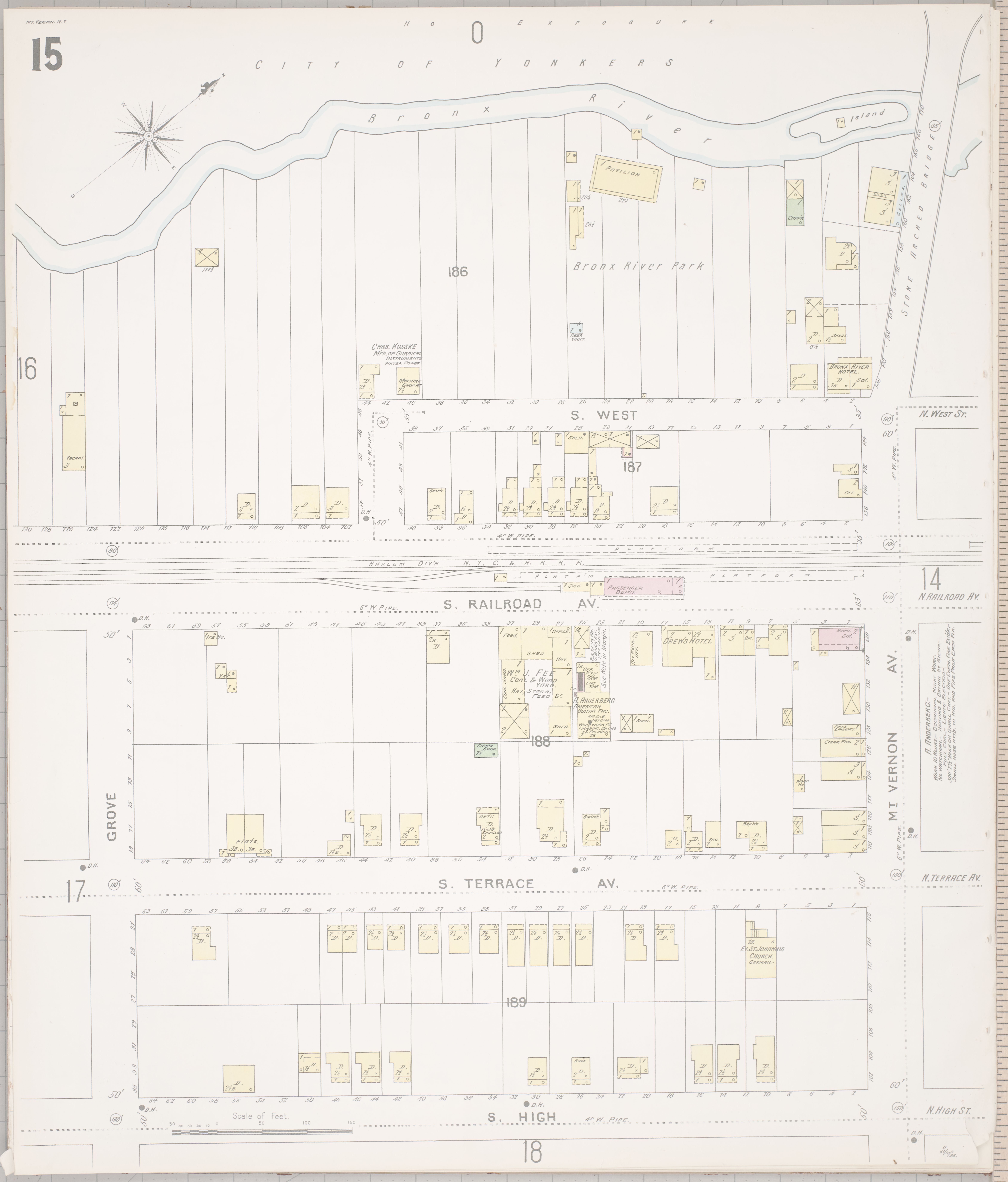 File Sanborn Fire Insurance Map from Mount Vernon Westchester