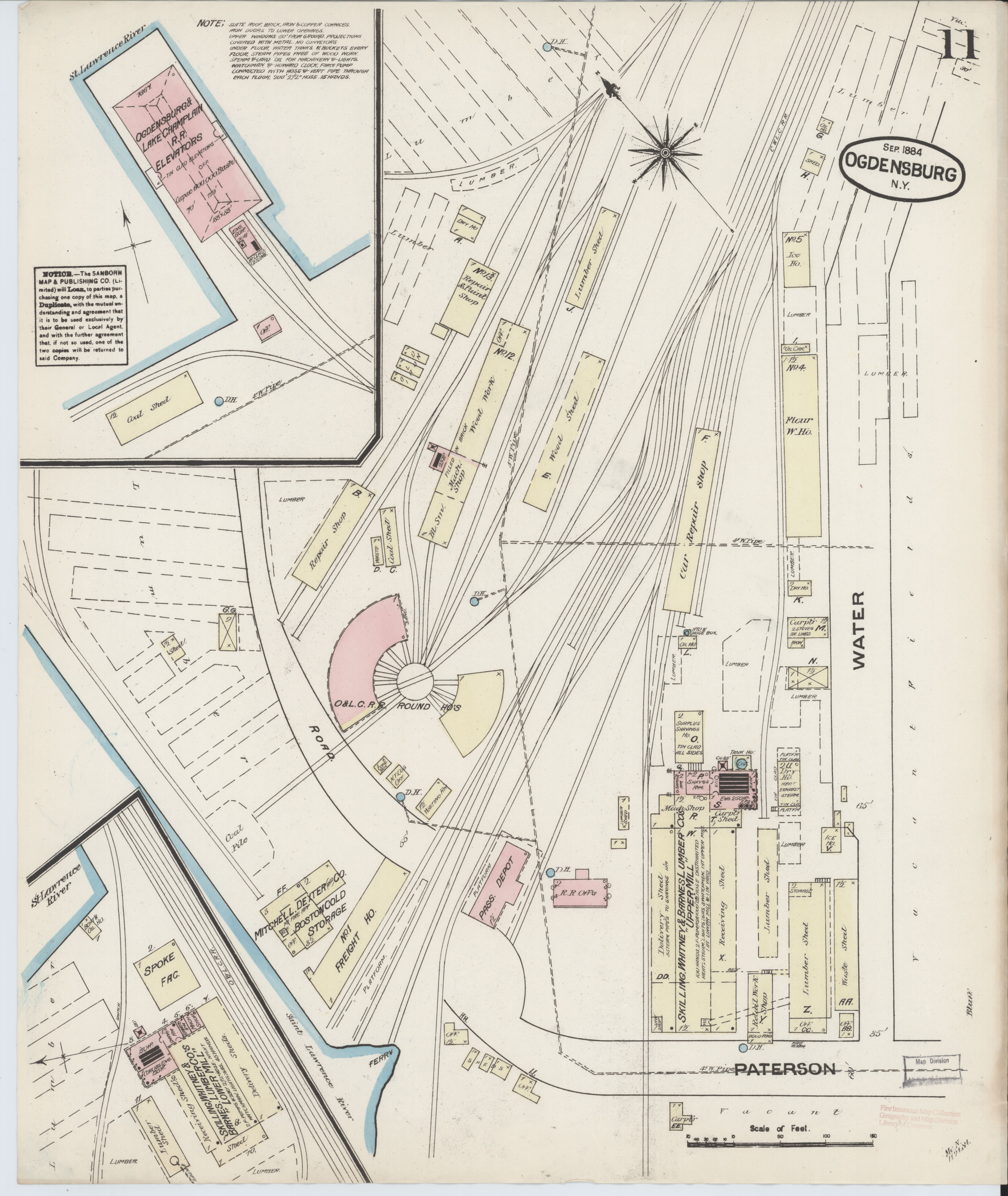 File Sanborn Fire Insurance Map from Ogdensburg St Lawrence County