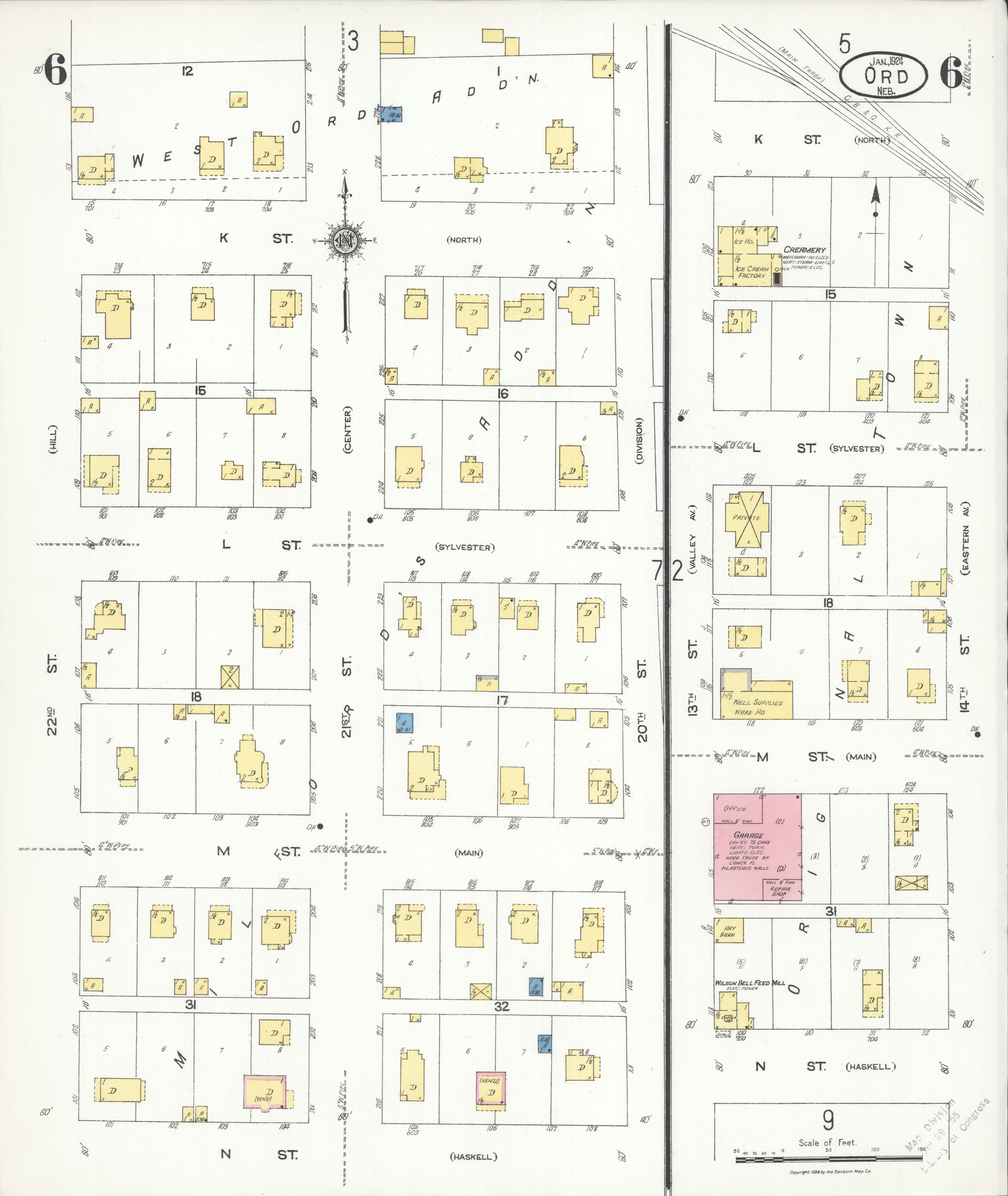 File Sanborn Fire Insurance Map from Ord Valley County Nebraska