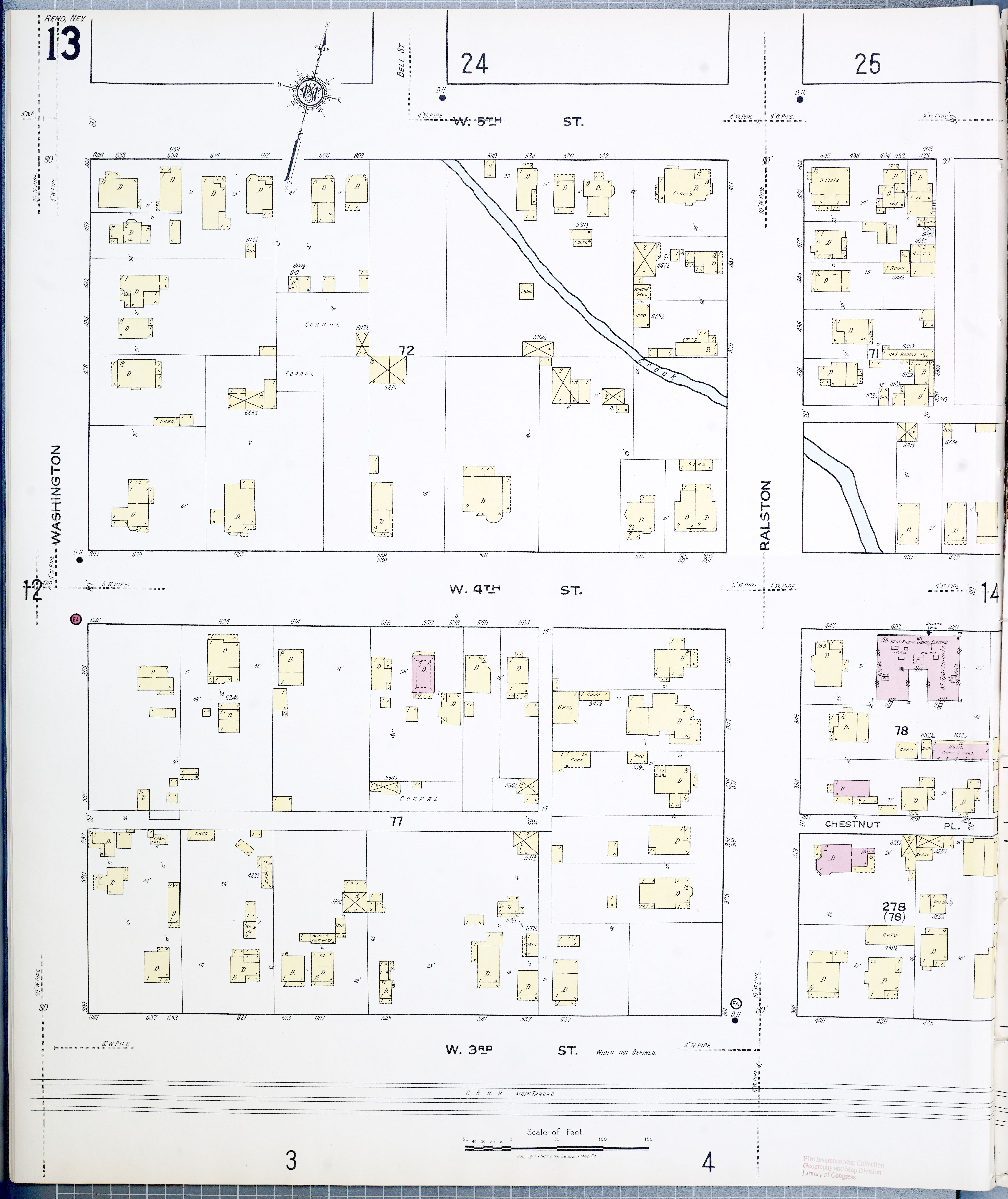 File Sanborn Fire Insurance Map from Reno Washoe County Nevada