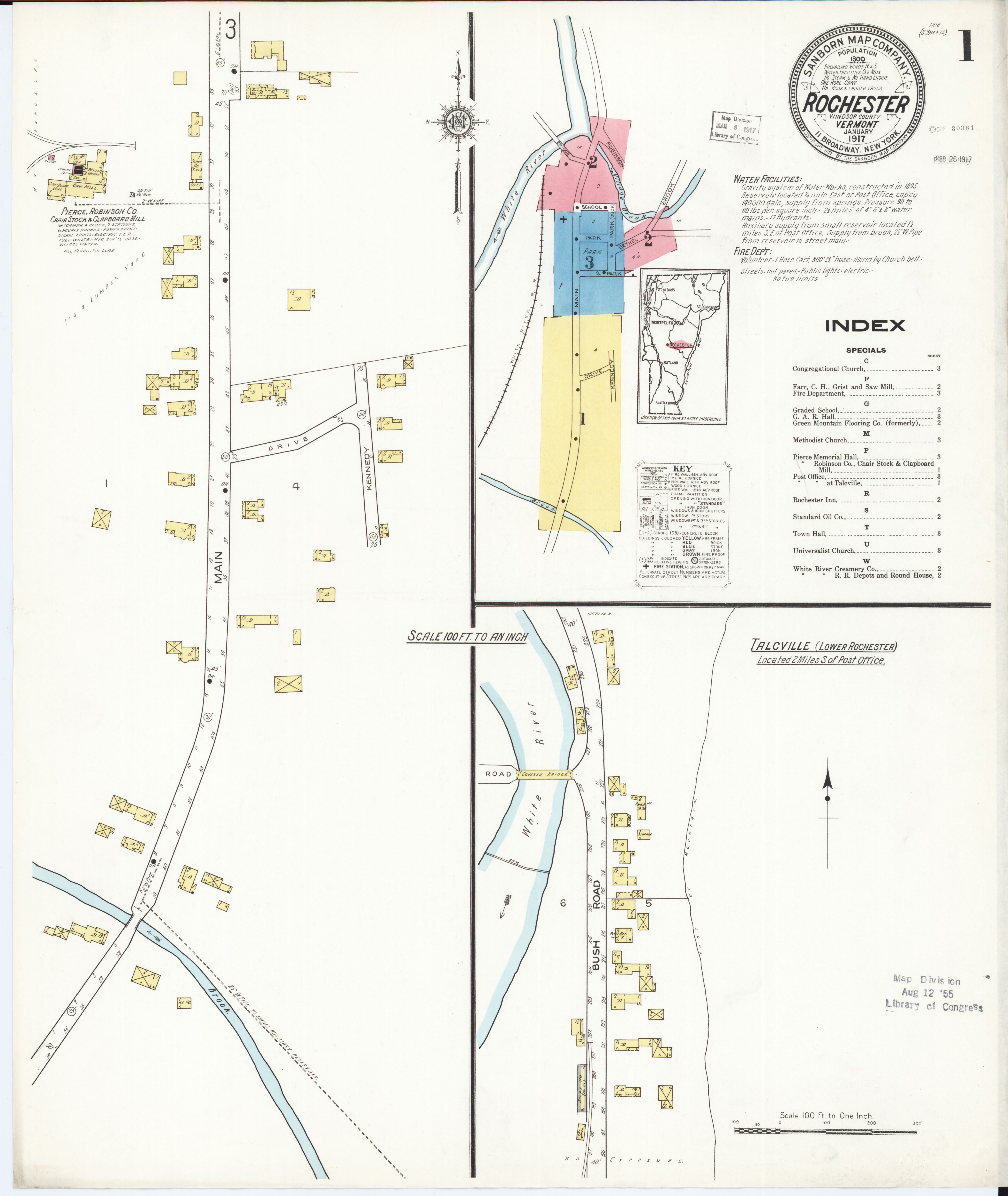 File Sanborn Fire Insurance Map from Rochester Windsor County