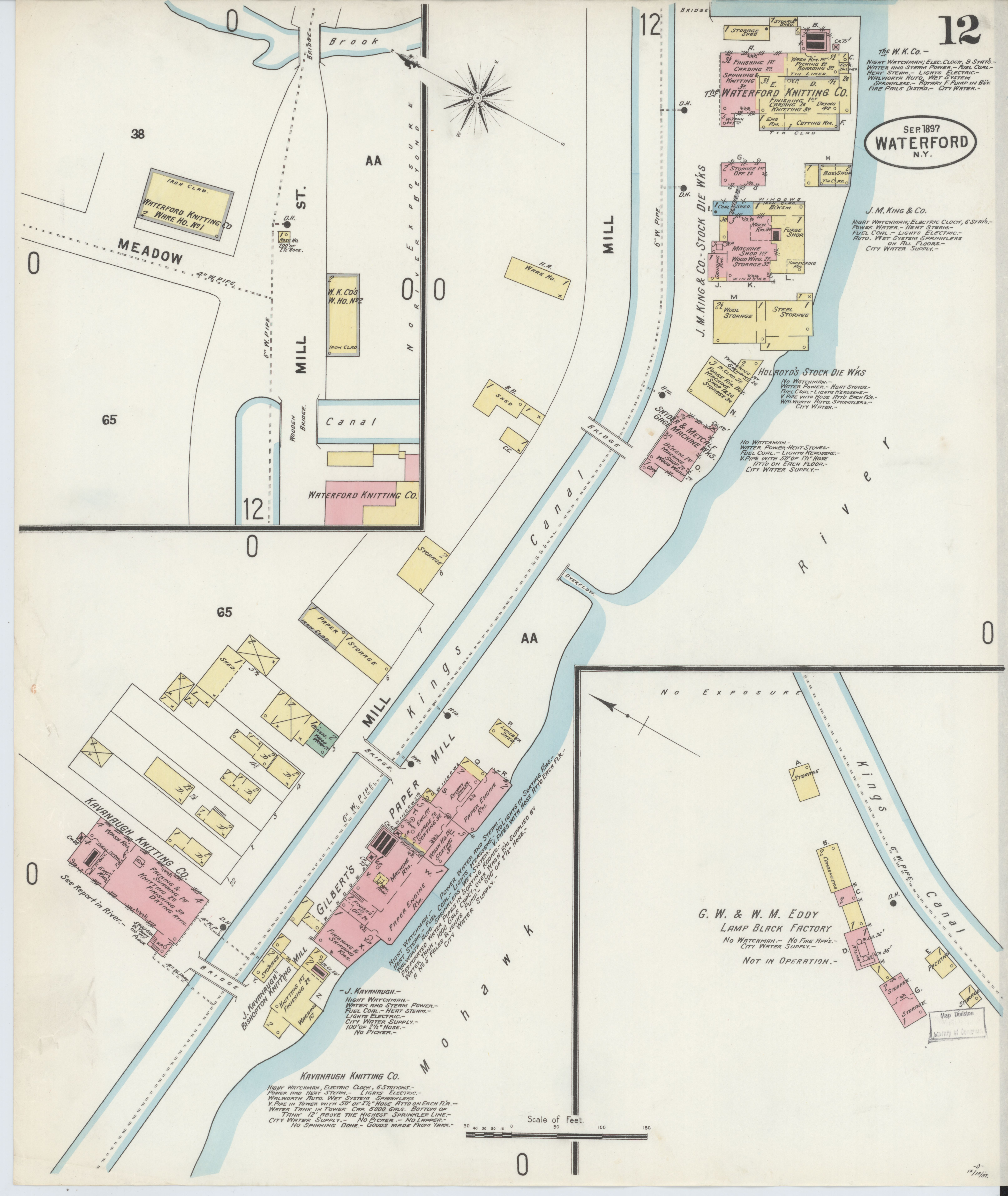 File Sanborn Fire Insurance Map from Waterford Saratoga County New