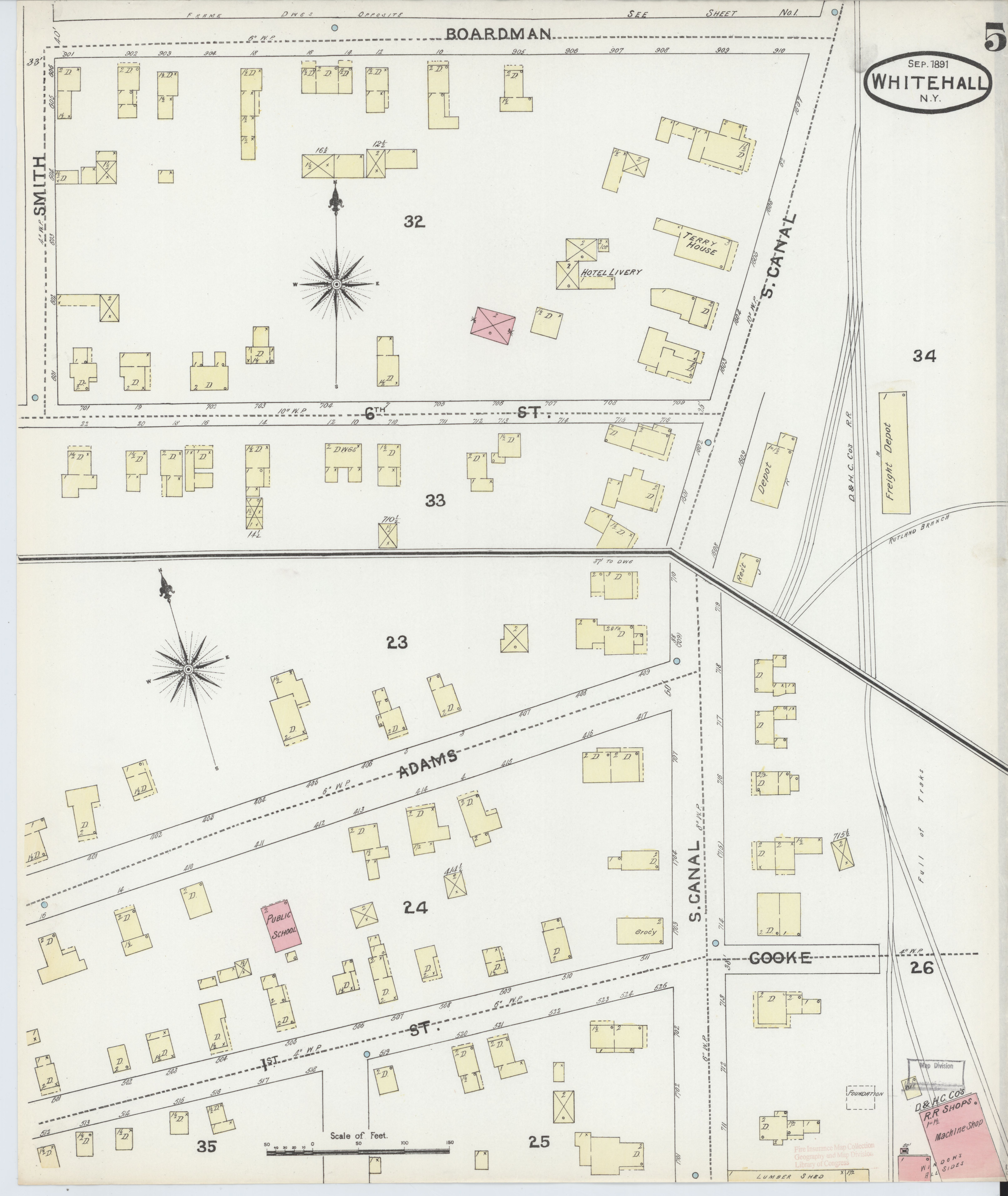 File Sanborn Fire Insurance Map from Whitehall Washington County