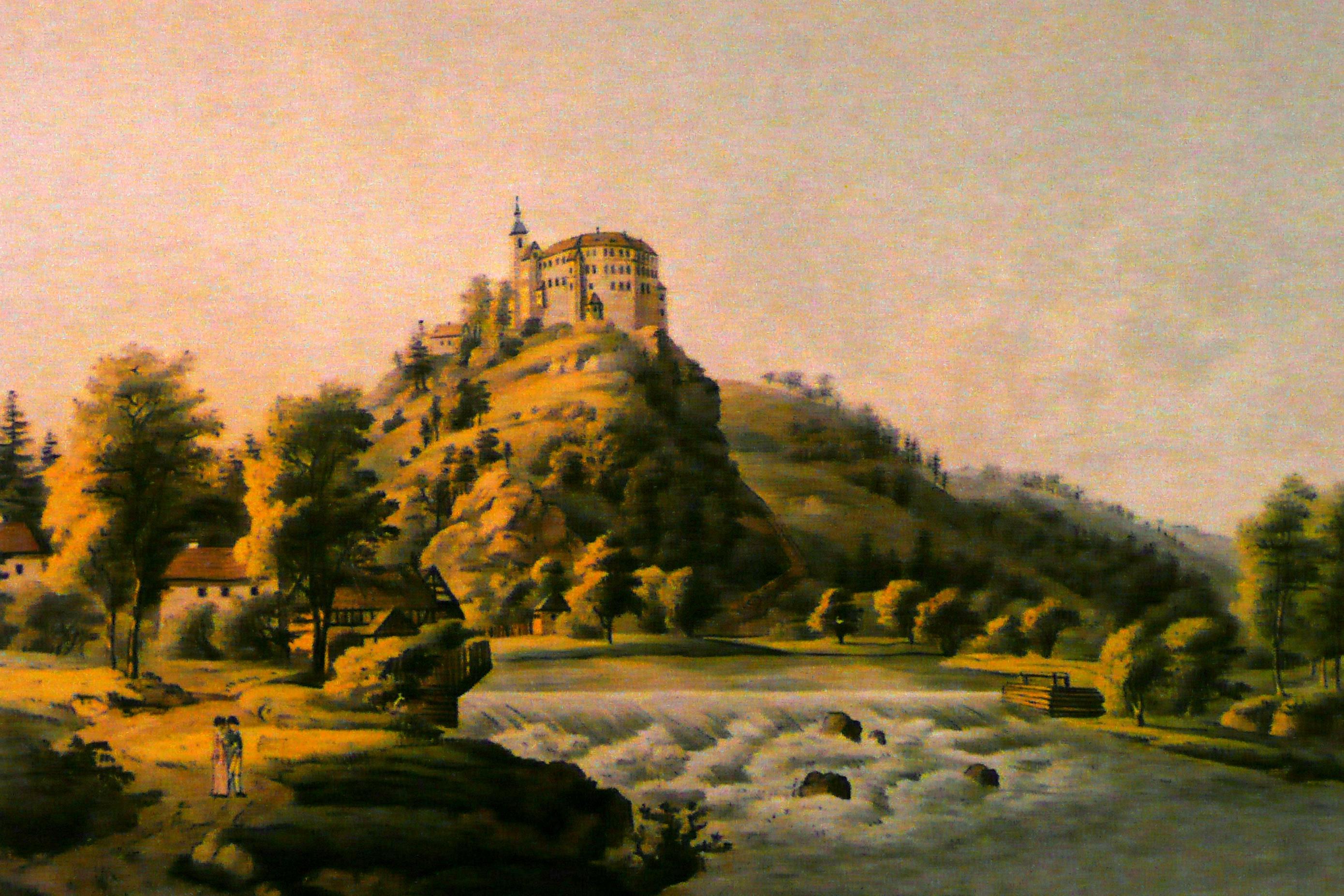 Sachsenburg um 1800