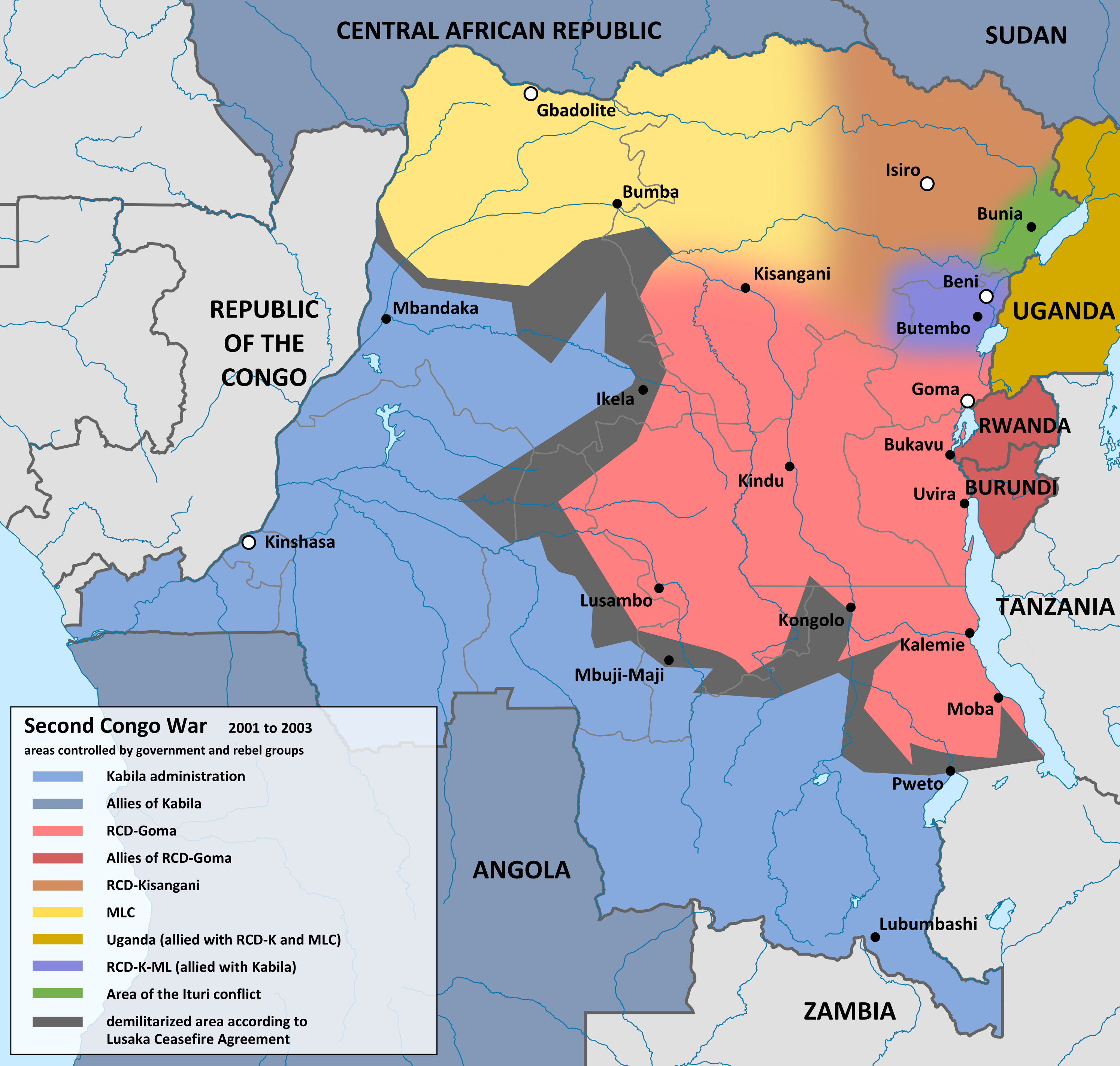 File Second Congo War 2001 map en Wikimedia mons