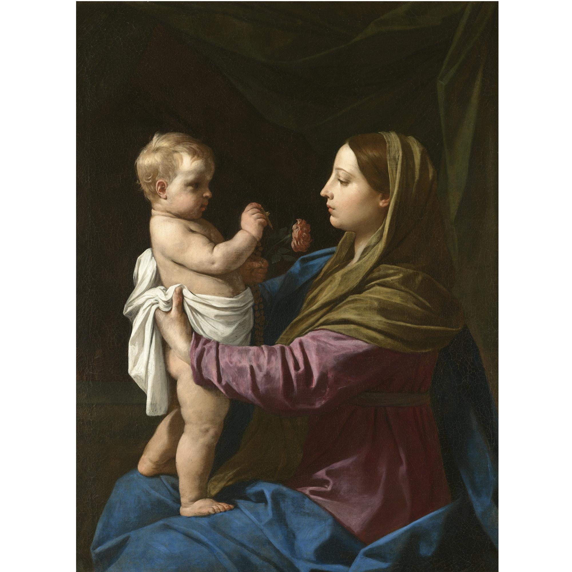 File Simone Cantarini The Madonna and Child Holding A Rosary