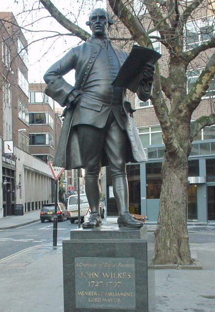 Statue of John Wilkes in Fetter Lane