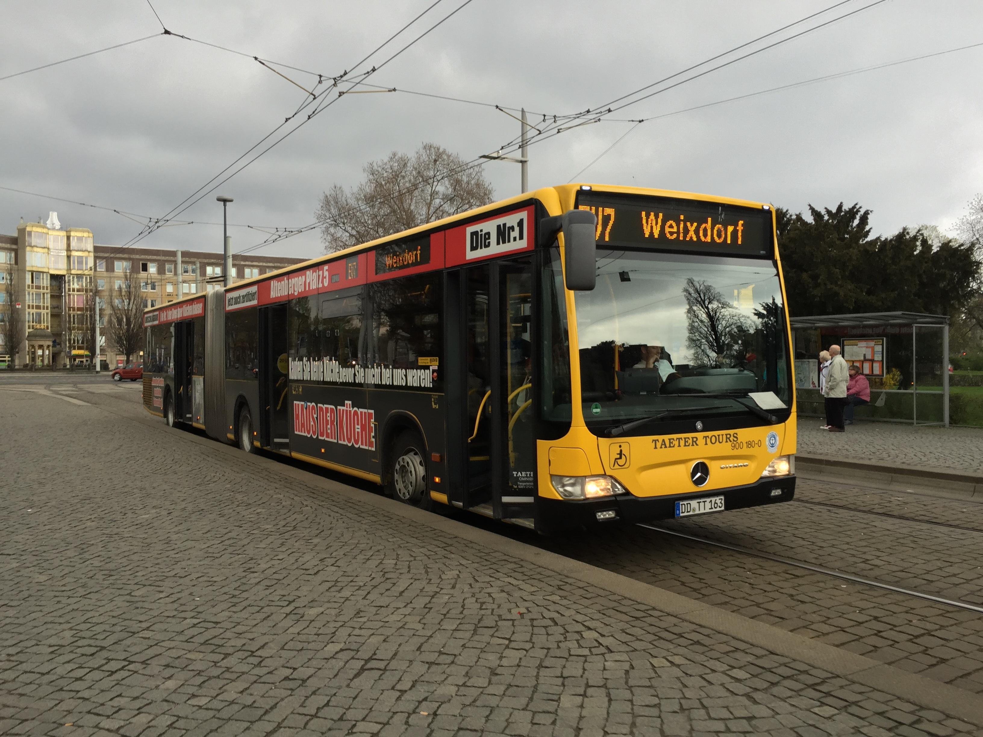 file taeter tours bus albertplatz dresden ev7 weixdorf jpg wikimedia commons. Black Bedroom Furniture Sets. Home Design Ideas