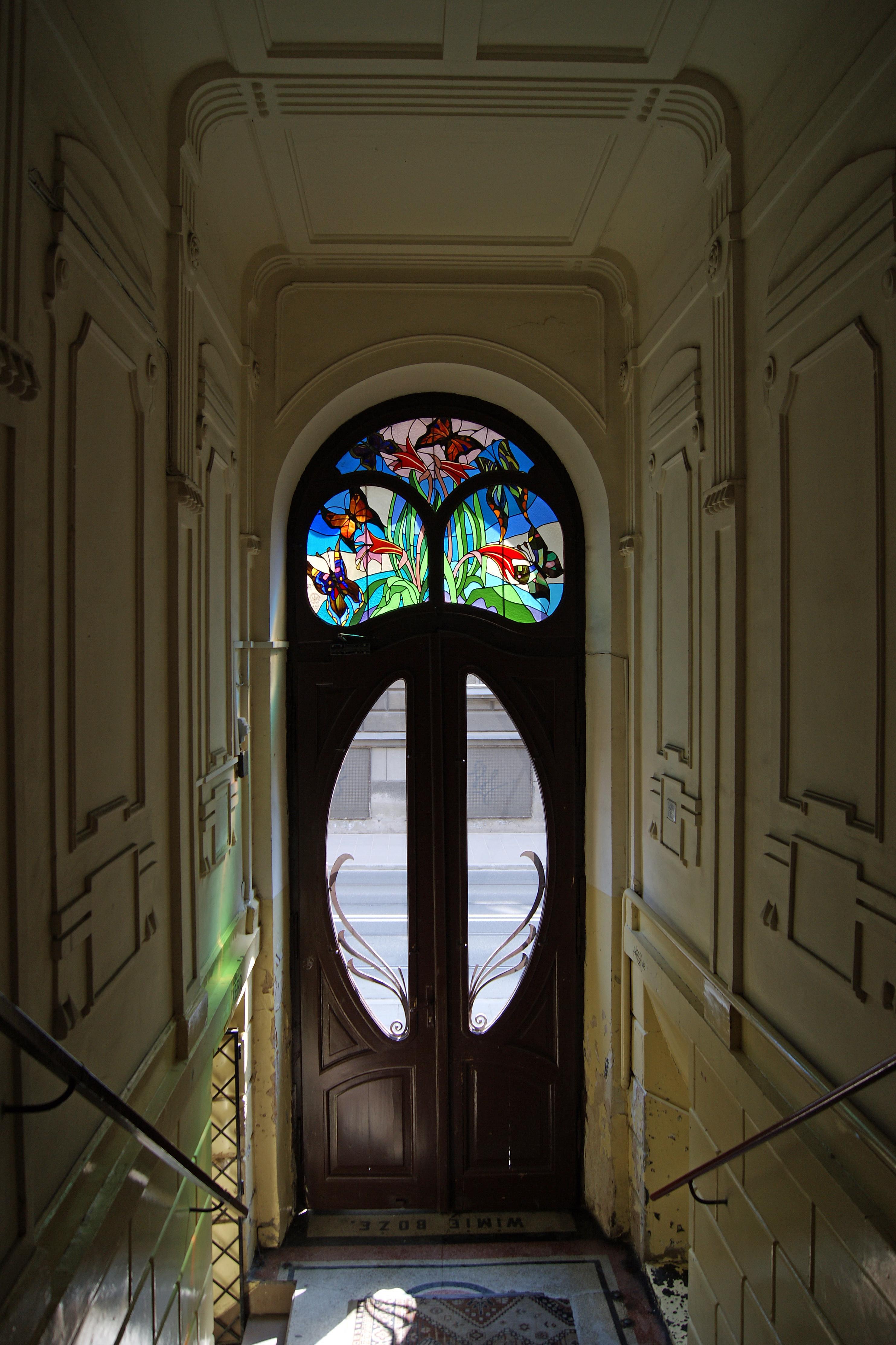file tenement door art nouveau stained glass ca 1906 9