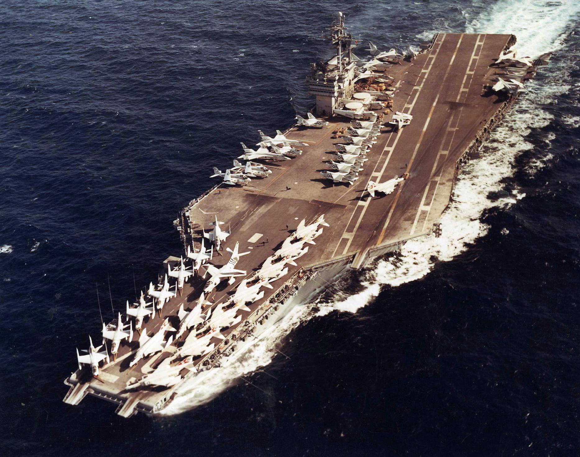 File USS John F Kennedy CVA 67 Underway Circa In 1970 NNAM