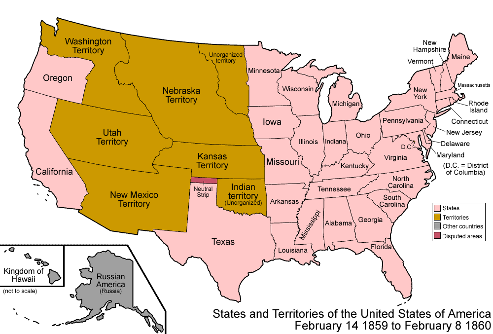 File:United States 1859-1860.png - Wikimedia Commons on map of america in 1860, united states flag in 1860, blank united states in 1860, number of american states in 1860, south america map in 1860, union states in 1860, united states postal service in 1860, map of usa in 1860, northern states in the us in 1860, united states of america in 1860, us map in 1860, india map in 1860, map of europe in 1860, texas map in 1860, map of western states in 1860, states and capitals in 1860,