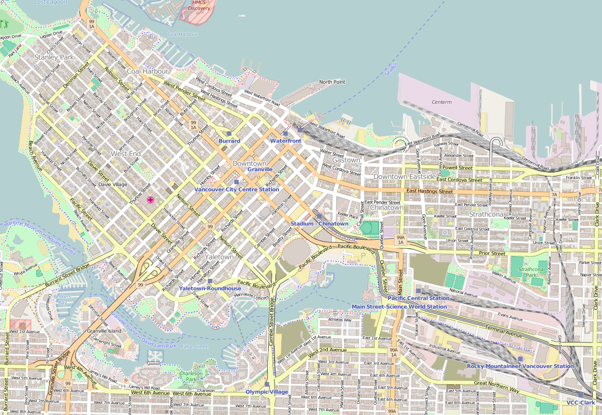 File Vancouver British Columbia Downtown OpenStreetMap