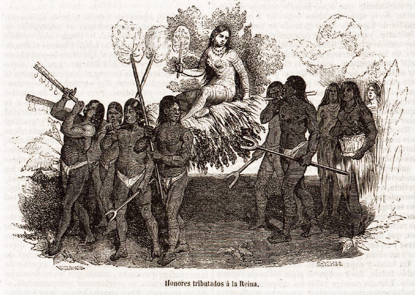 Файл:Vida y viajes de Cristóbal Colón-1852-Honores Tributados à la Reina