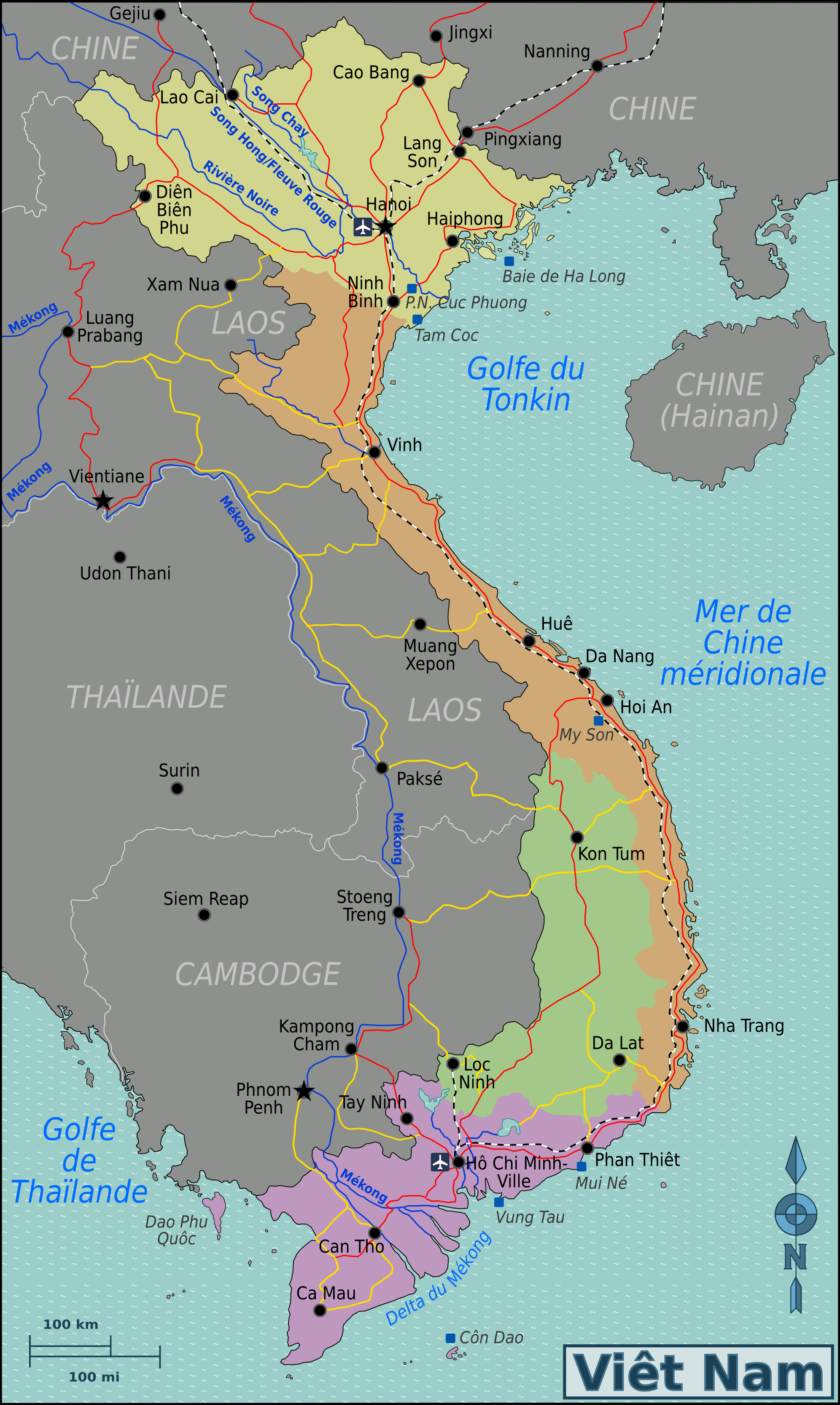 File Vietnam Regions Map fr Wikimedia mons