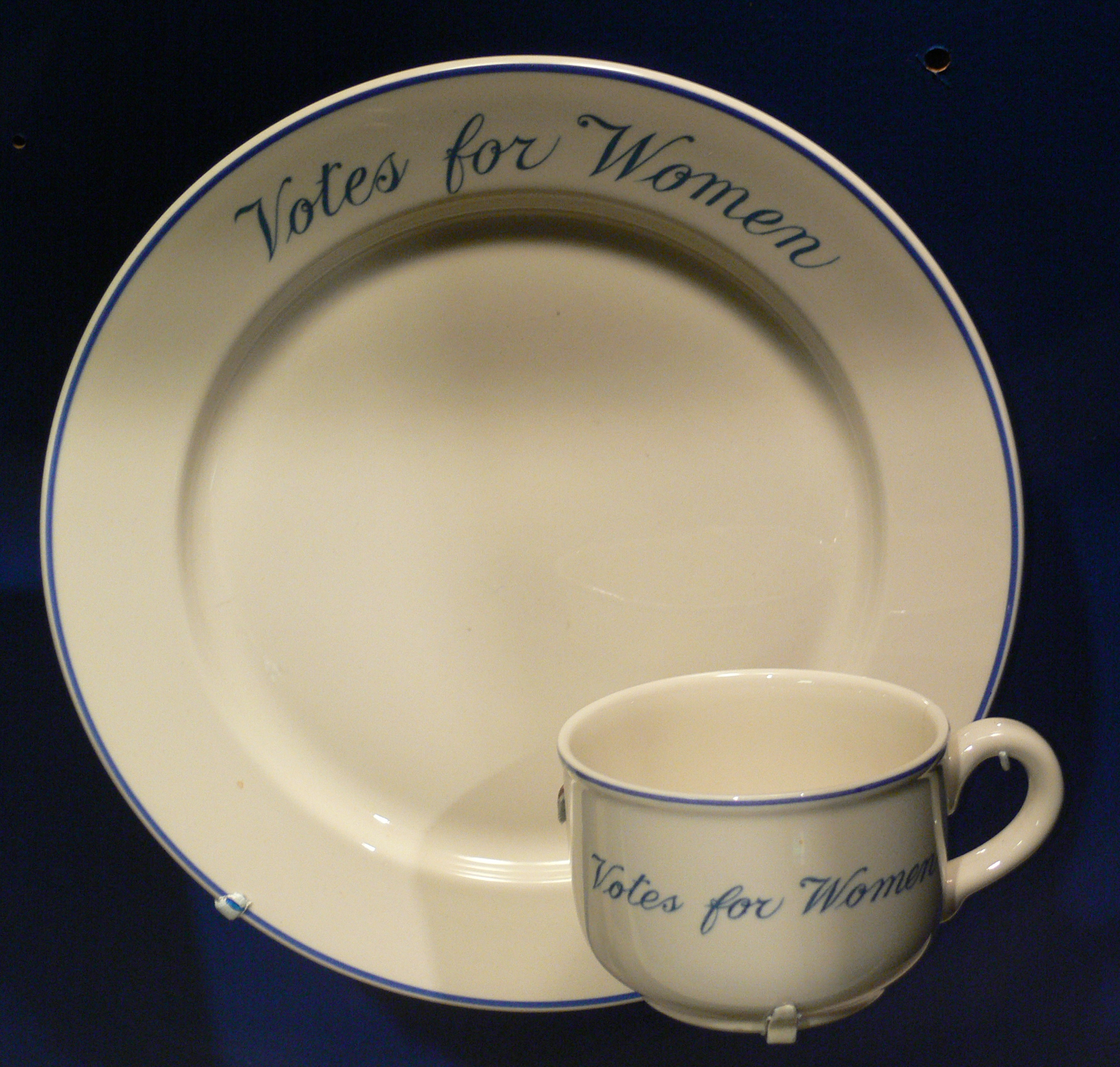 file votes for women cup and plate 1910s womens museum jpg