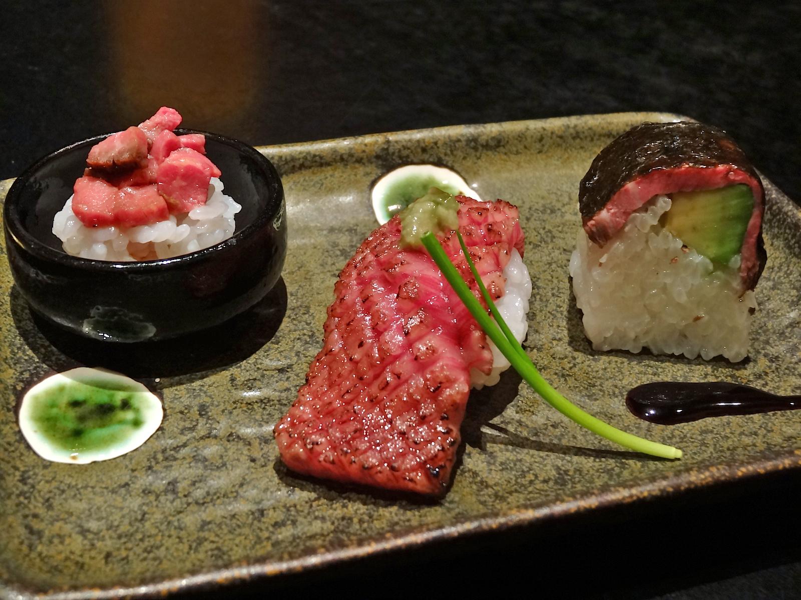 wagyu gunkan sushi recipes dishmaps gunkan sushi this wagyu gunkan ...