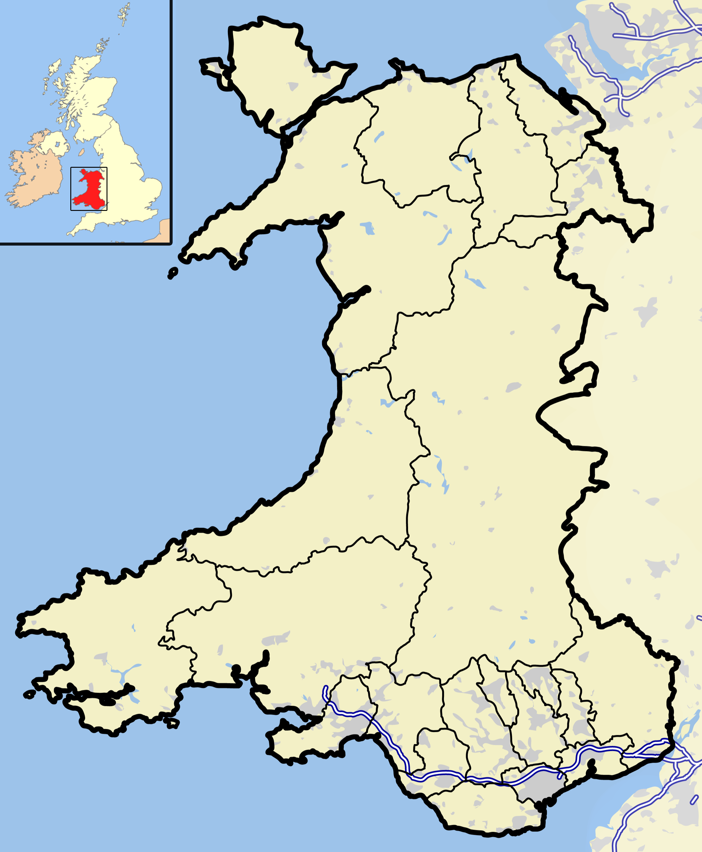File Wales outline map with Wikipedia