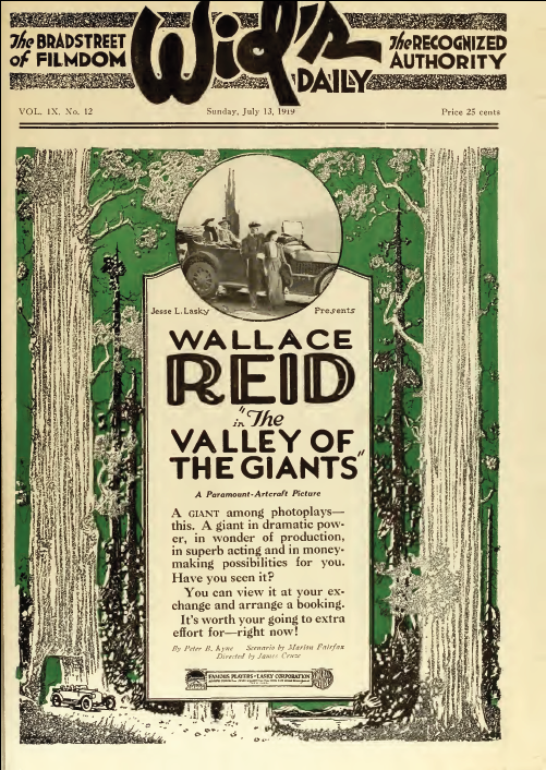 Image result for wallace reid valley of the giants