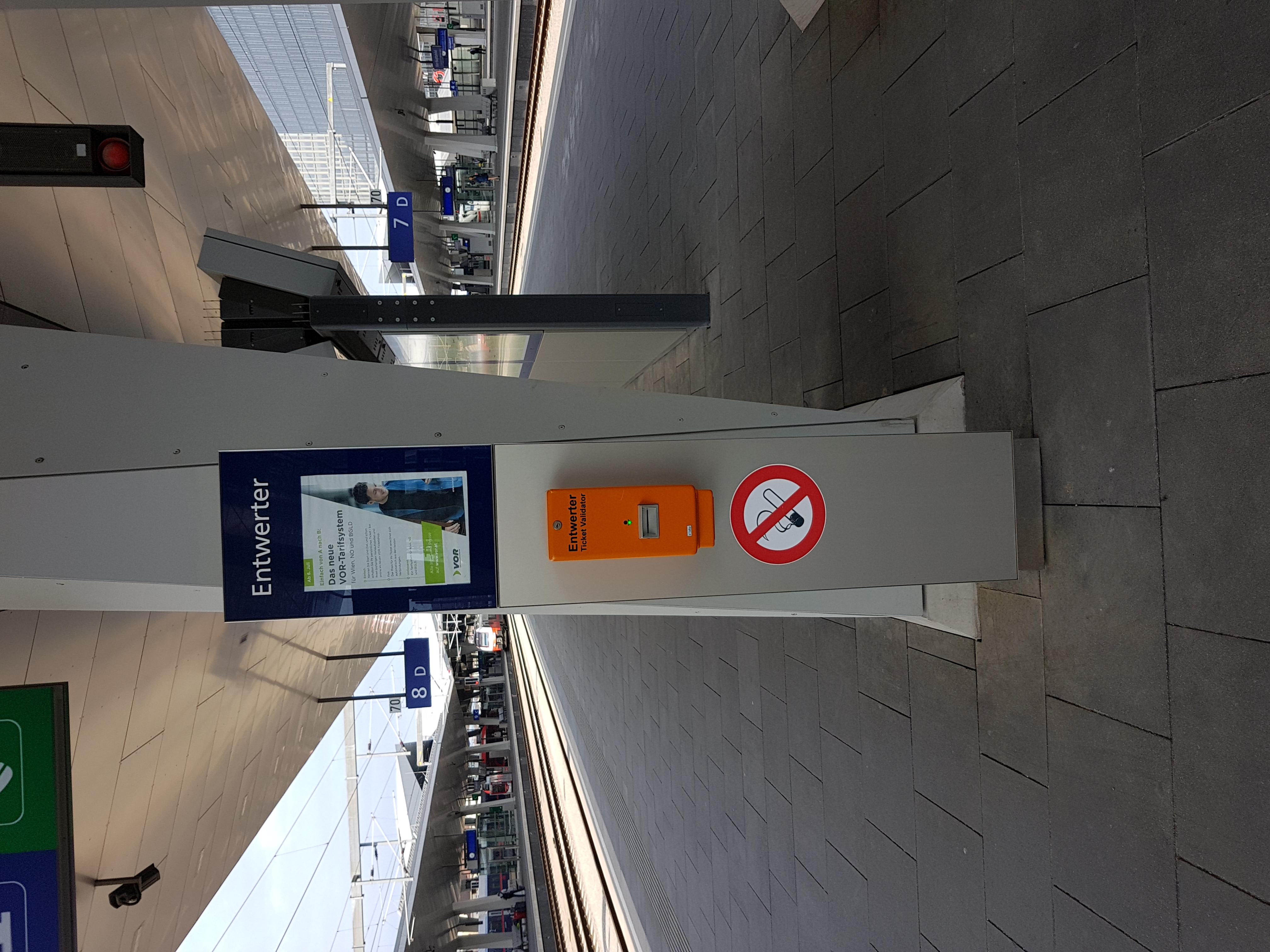 Filewien Hauptbahnhof Bahnsteig Entwerterjpg Wikimedia