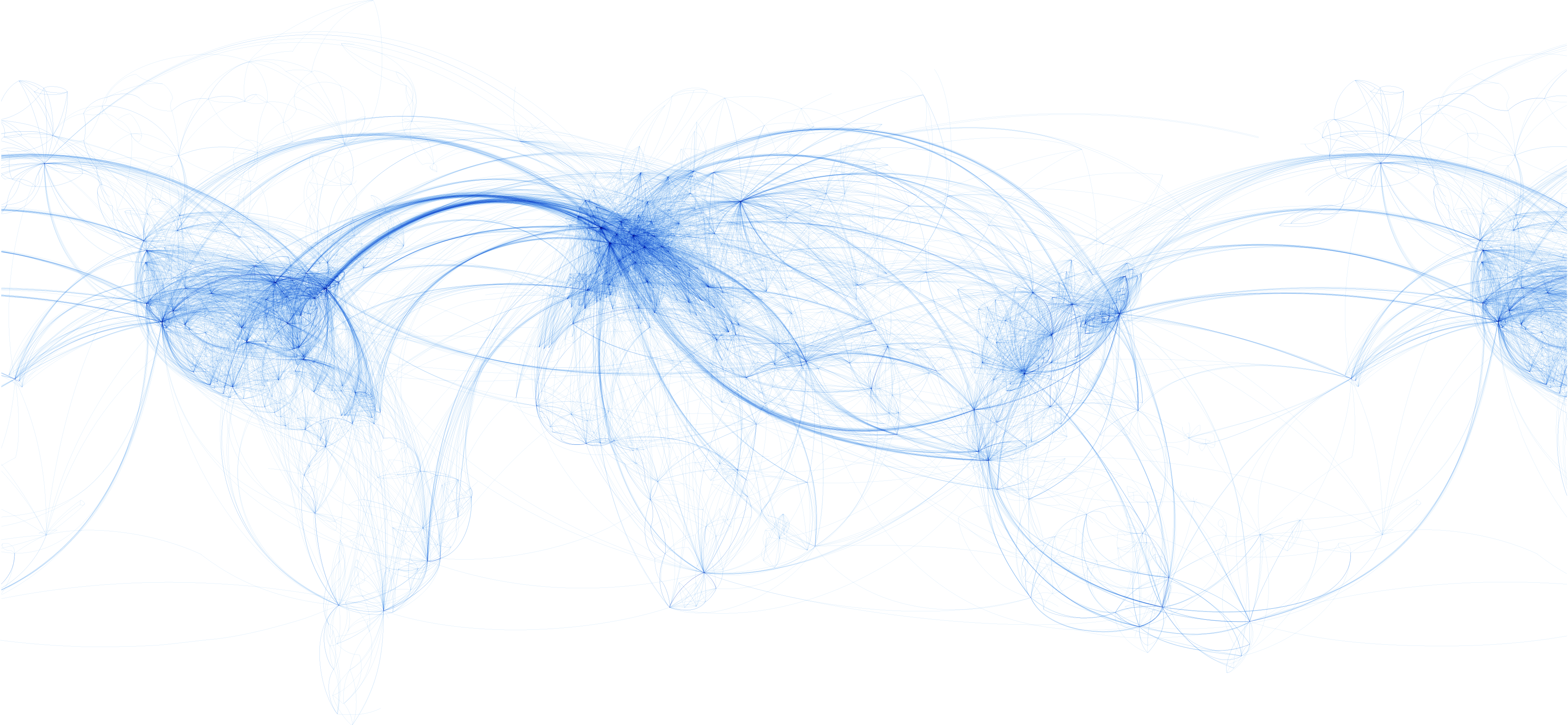World Airline Routes [OC] dataisbeautiful
