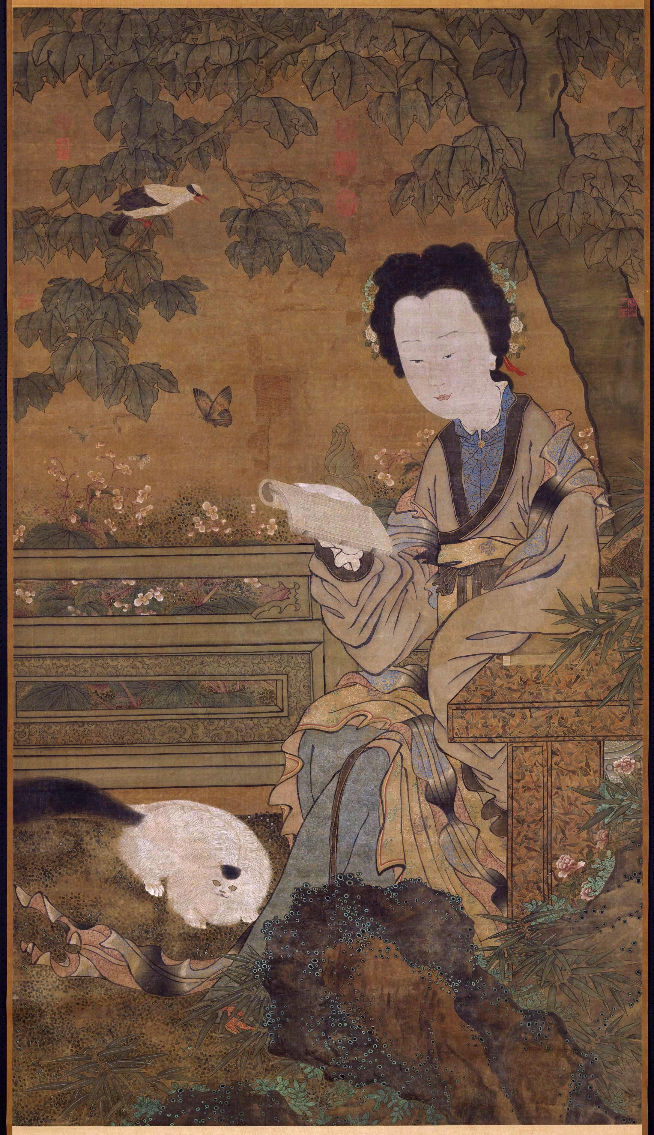 D Art Exhibition Taipei : File zhou wenjiu woman with cat national palace museum