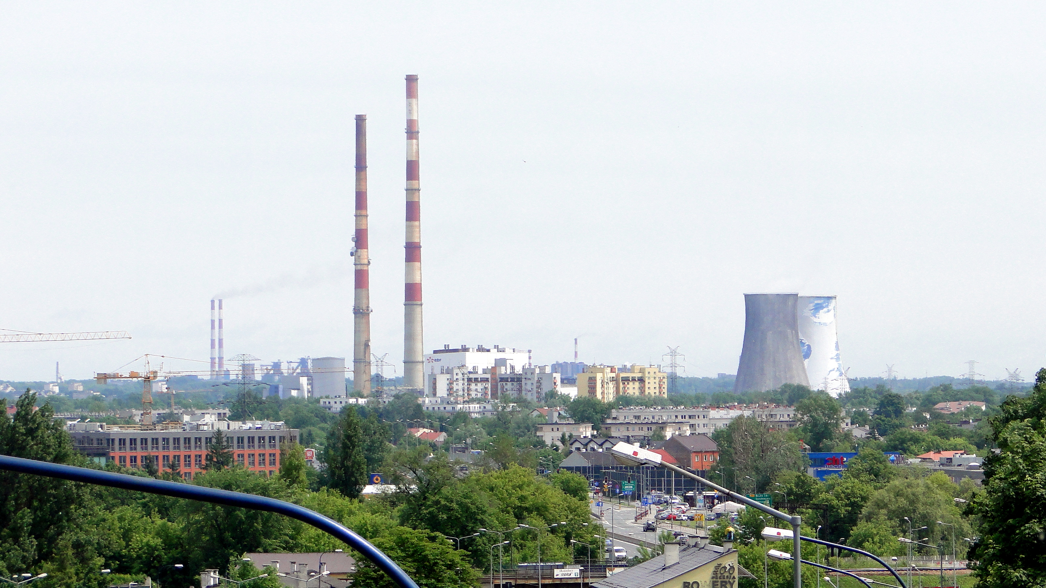 File Łęg Cogeneration and power plant seen from Kopiec Krakusa JPG