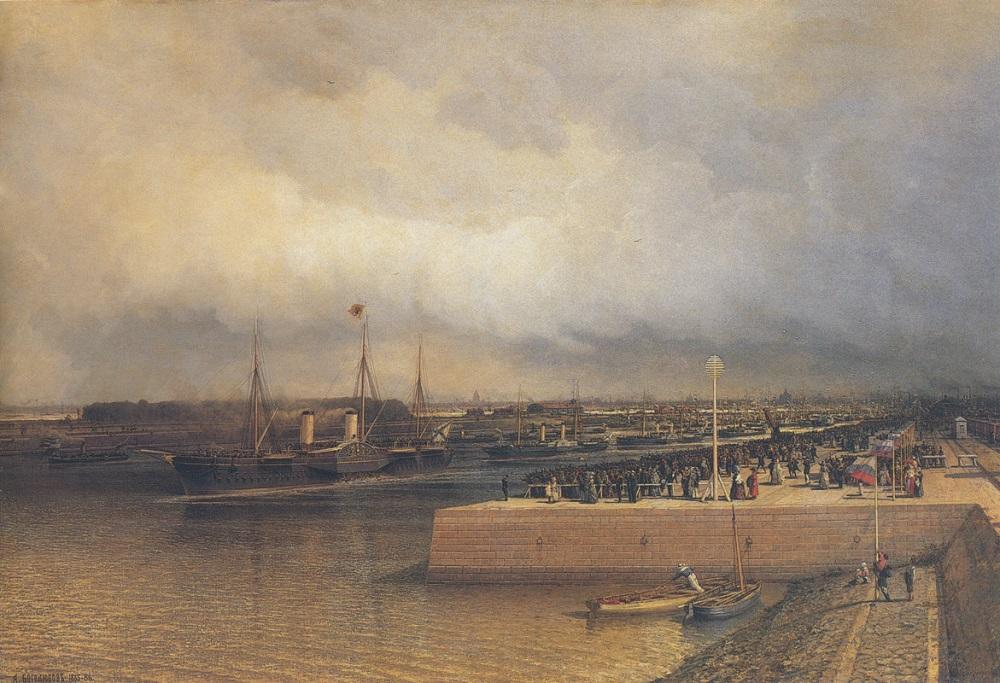 Боголюбов А.П.Открытие Петербургского Морского канала в 1886г.