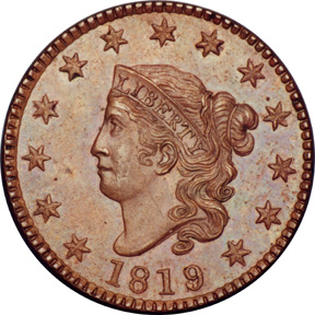Large cent One-cent coin in the United States from 1793 to 1957