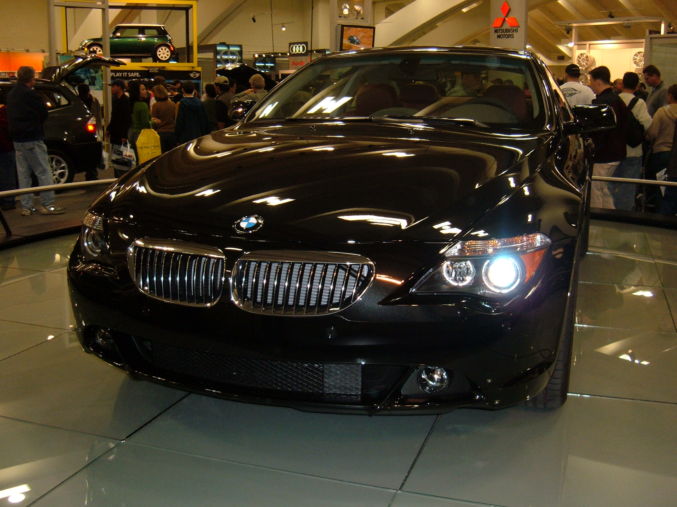 File 2005 Black Bmw 645ci Front Jpg Wikimedia Commons