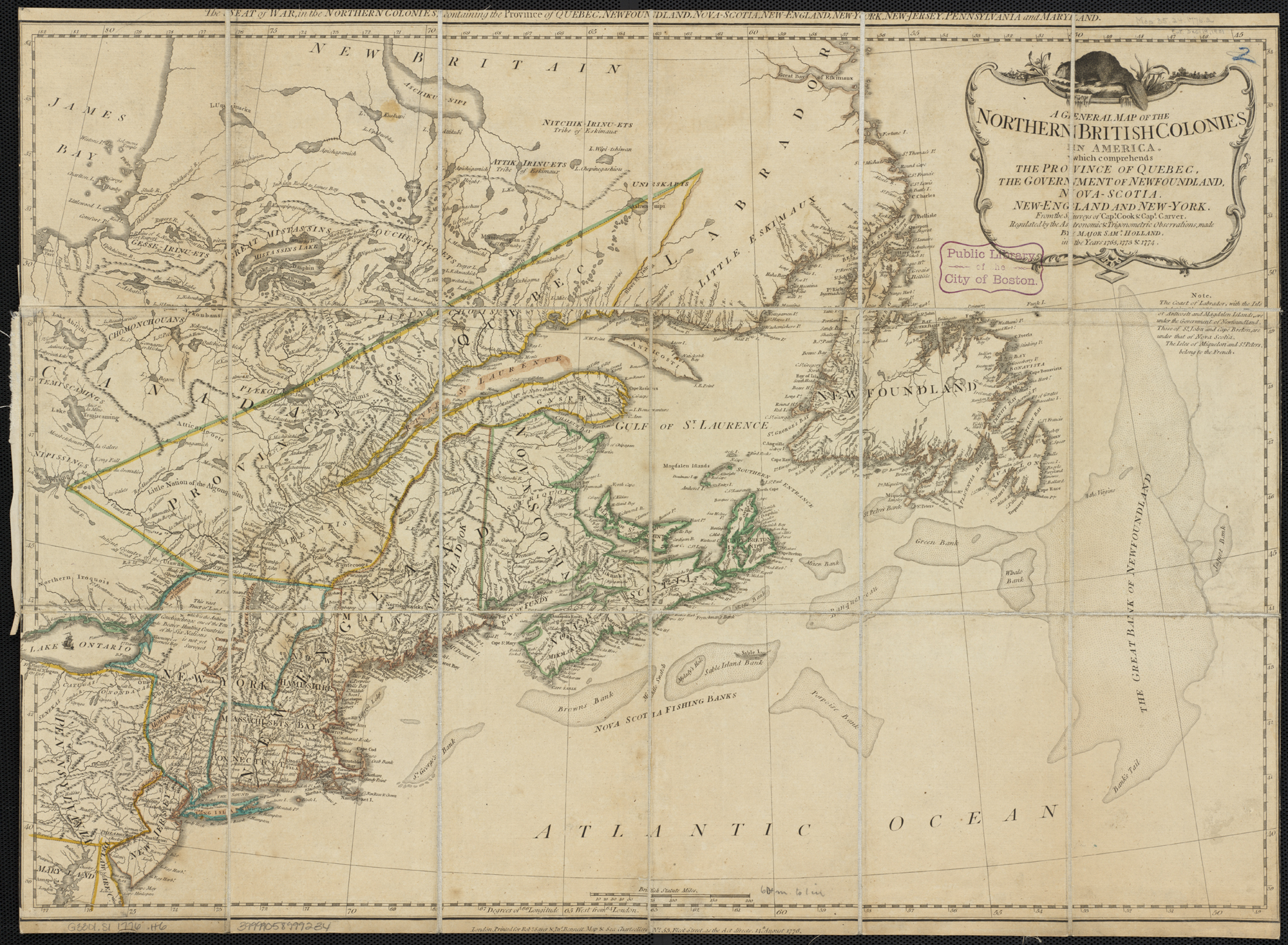 File:A general map of the northern British Colonies in America ...