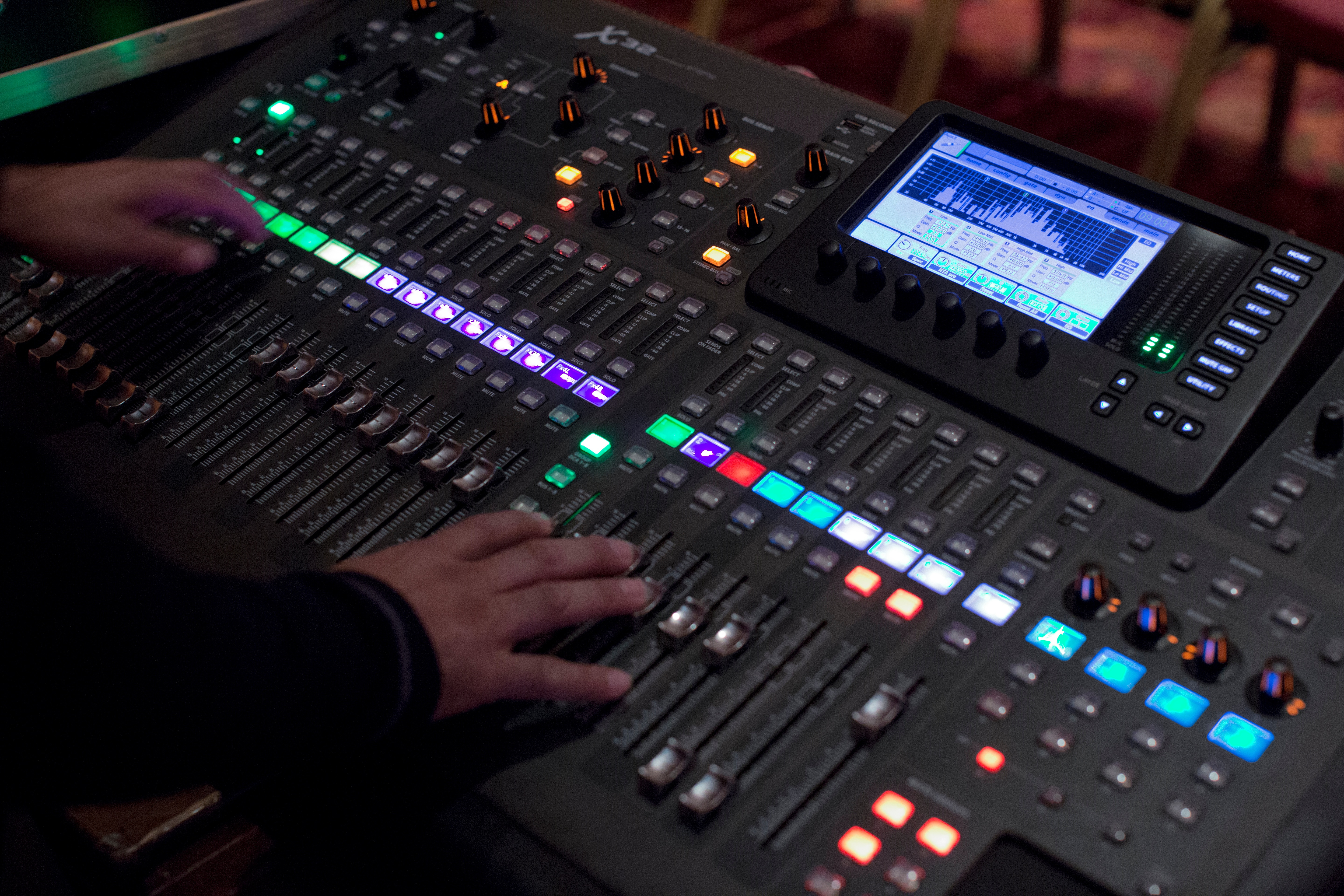 File Behringer X32 Digital Mixer In Operation Angled