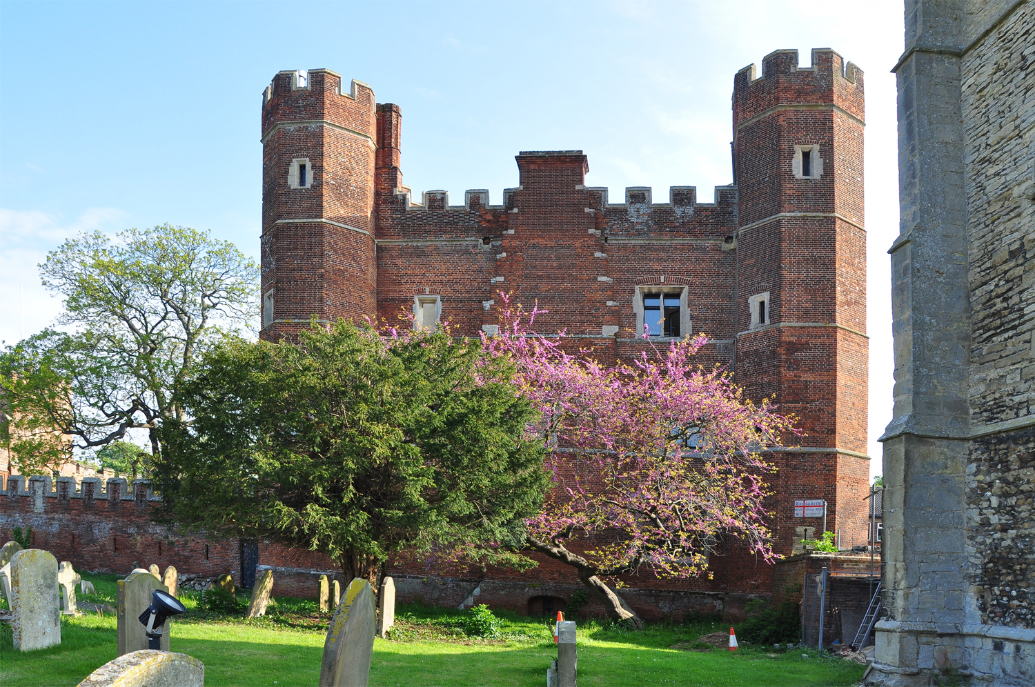File Buckden Towers And Blossom Buckden Geograph Org