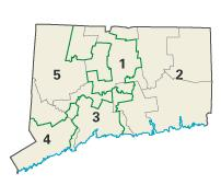 Connecticut districts in these elections
