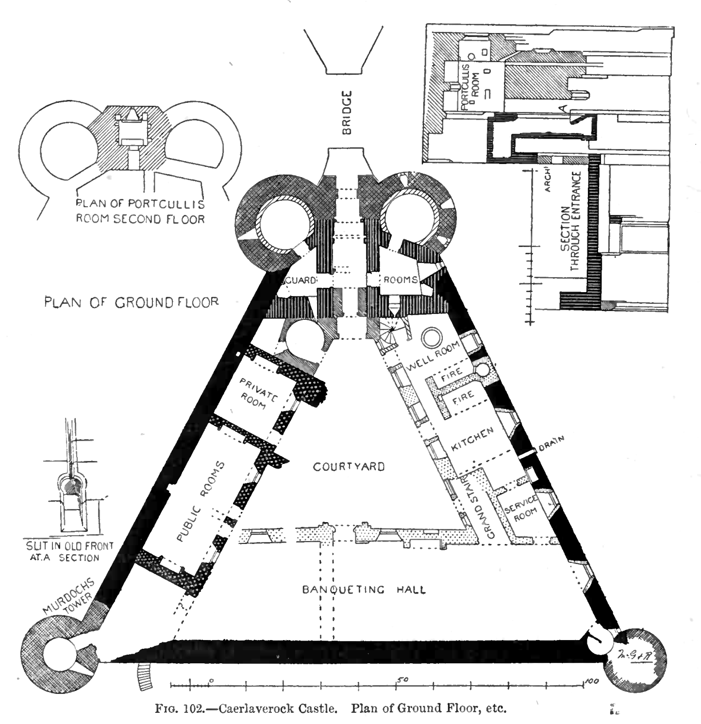 File Caerlaverock Castle Plan Of Ground Floor Etc Png