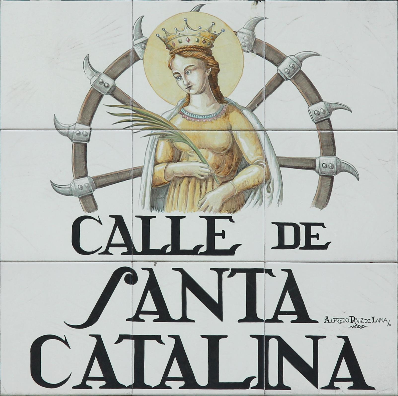 Resultado de imagen de azulejos calles de madrid santa catalina
