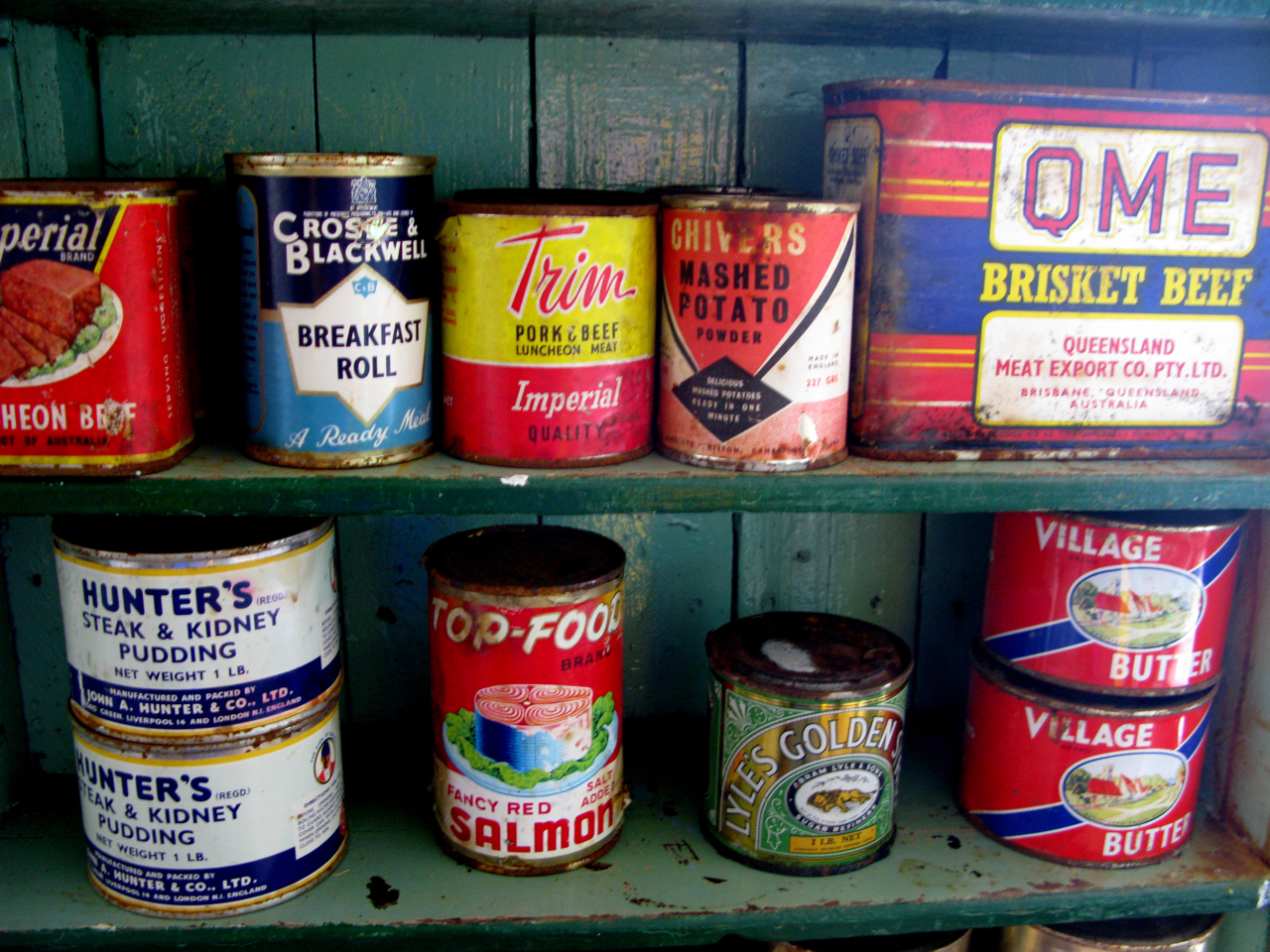 Cans Of Food Soup And Beans