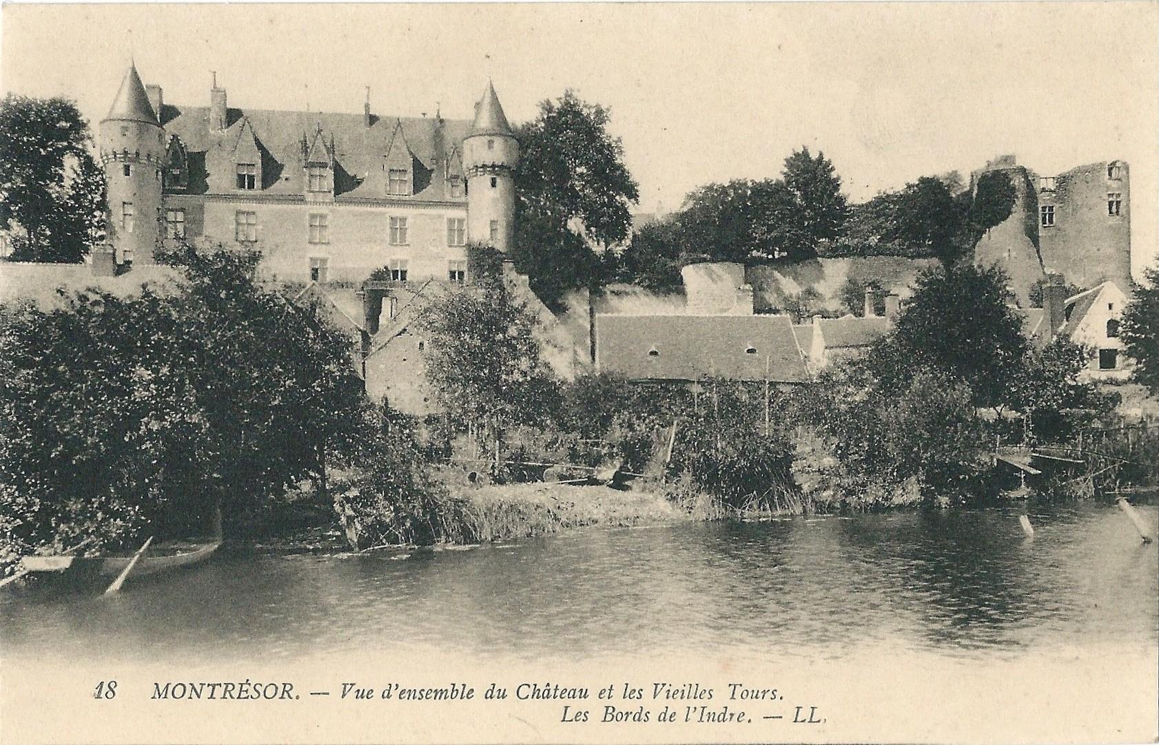 Filechâteau De Montrésor Carte Postale A1jpg Wikimedia