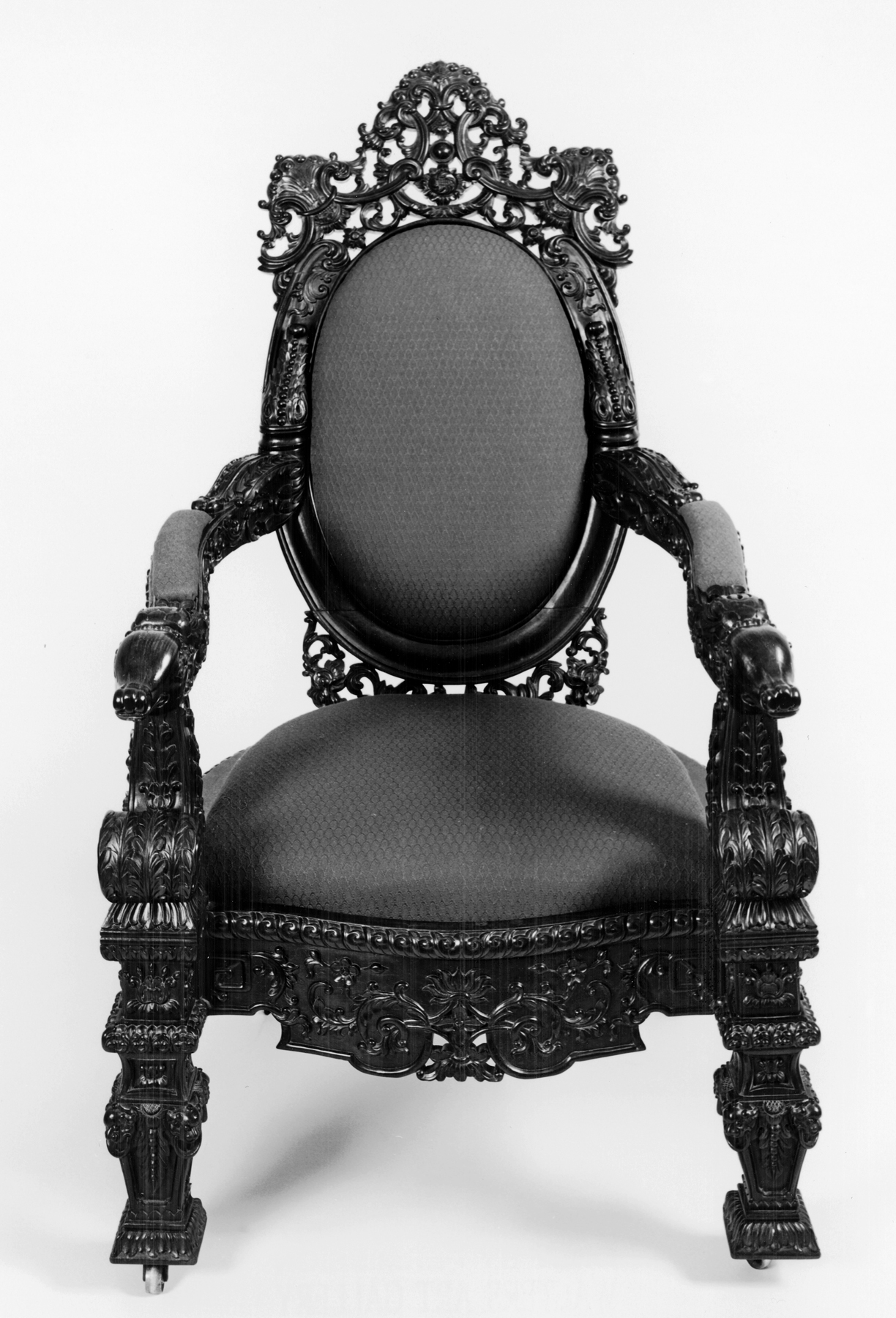 File:Chinese - Armchair in Louis XIV Style - Walters 65111 ...