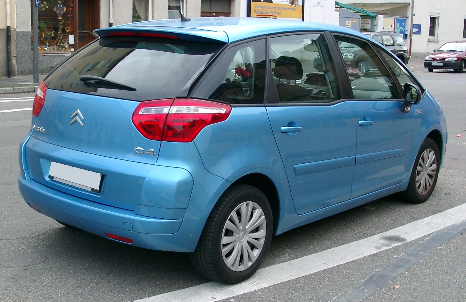 file citroen c4 picasso rear wikimedia commons. Black Bedroom Furniture Sets. Home Design Ideas