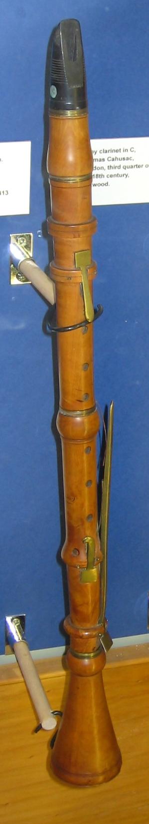 4-key boxwood clarinet, ca. 1760.